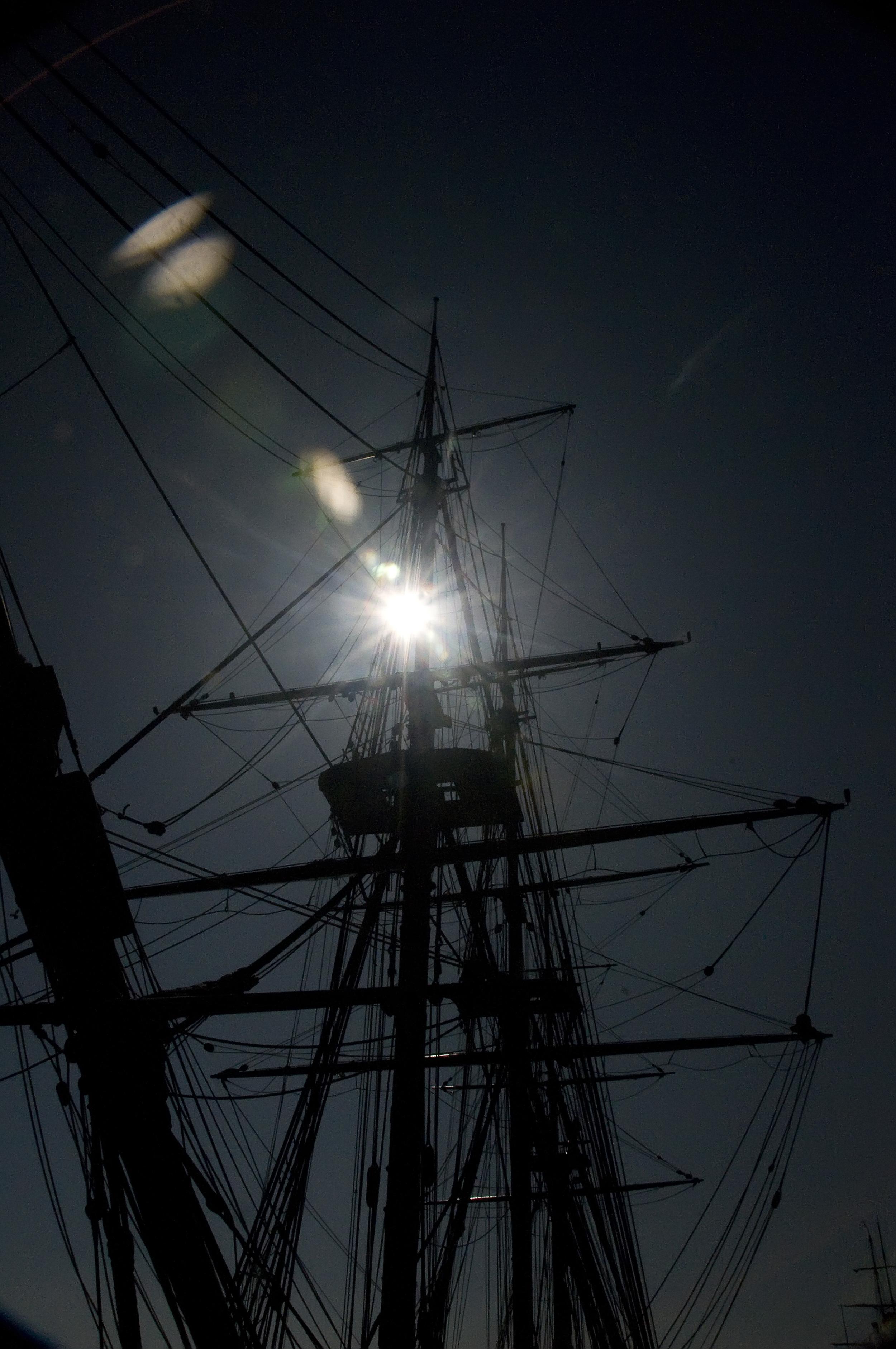 Tall ship silhouette San Diego