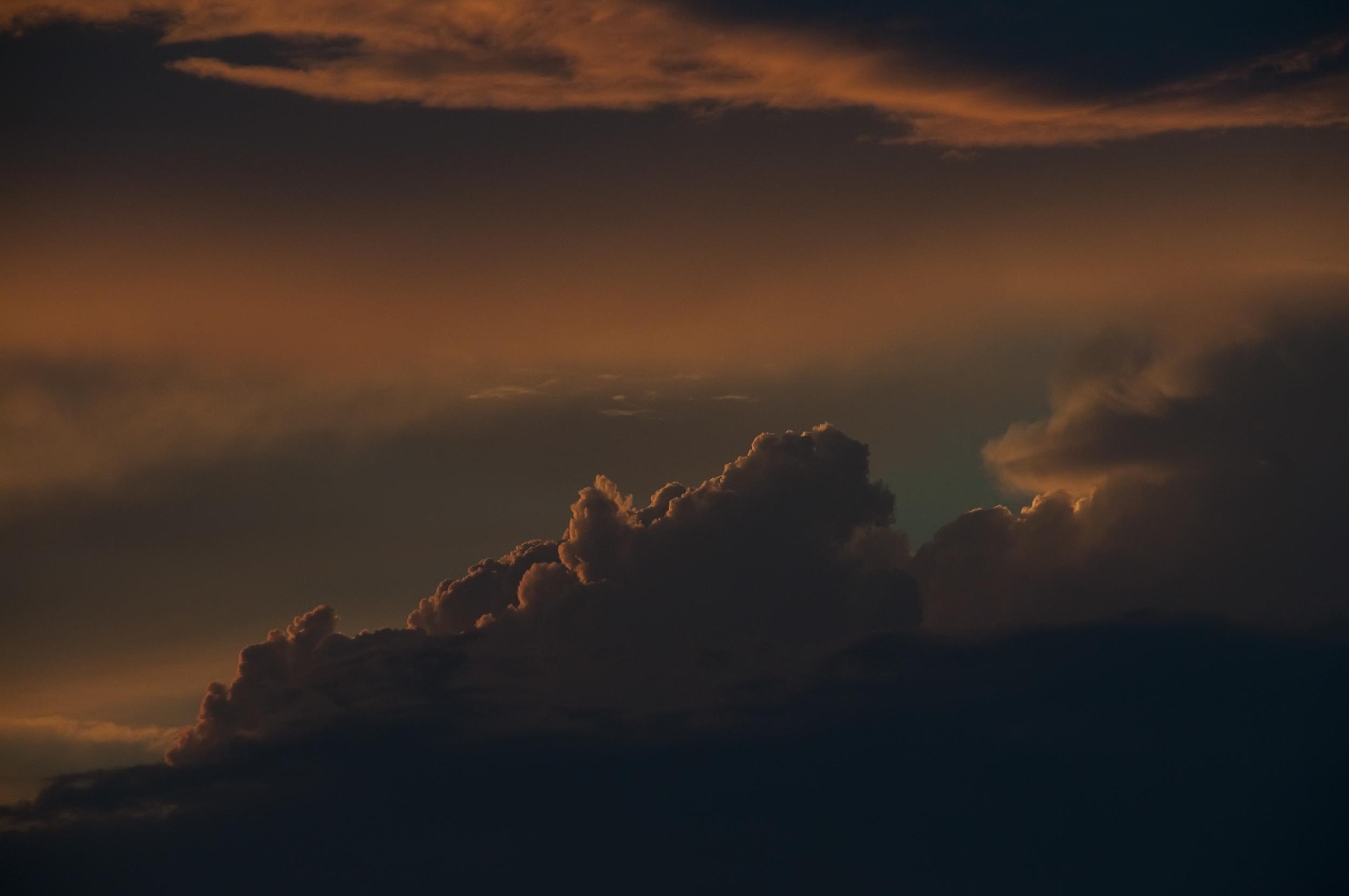 Silver Beach sunset clouds