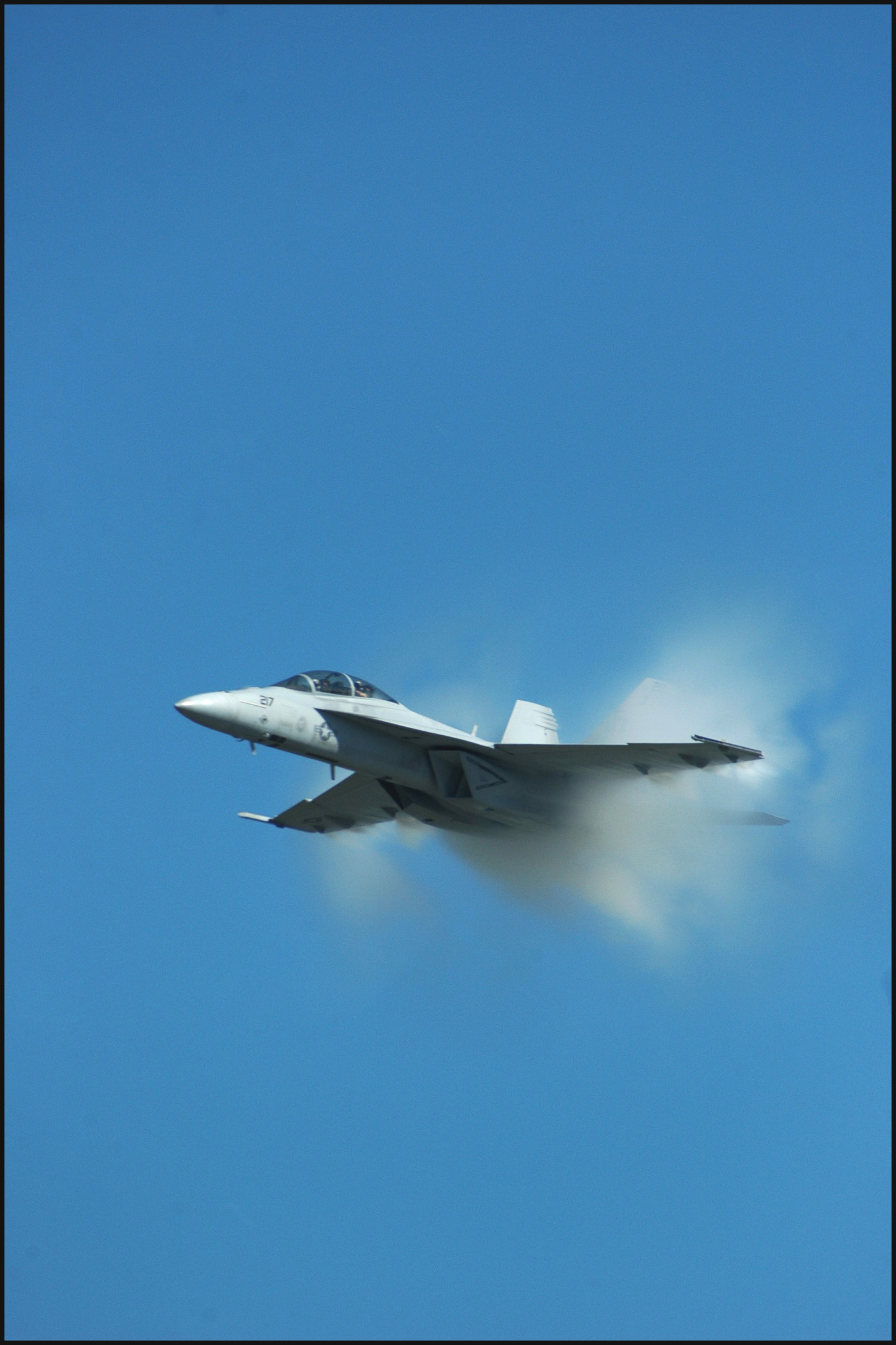 F-18 going supersonic