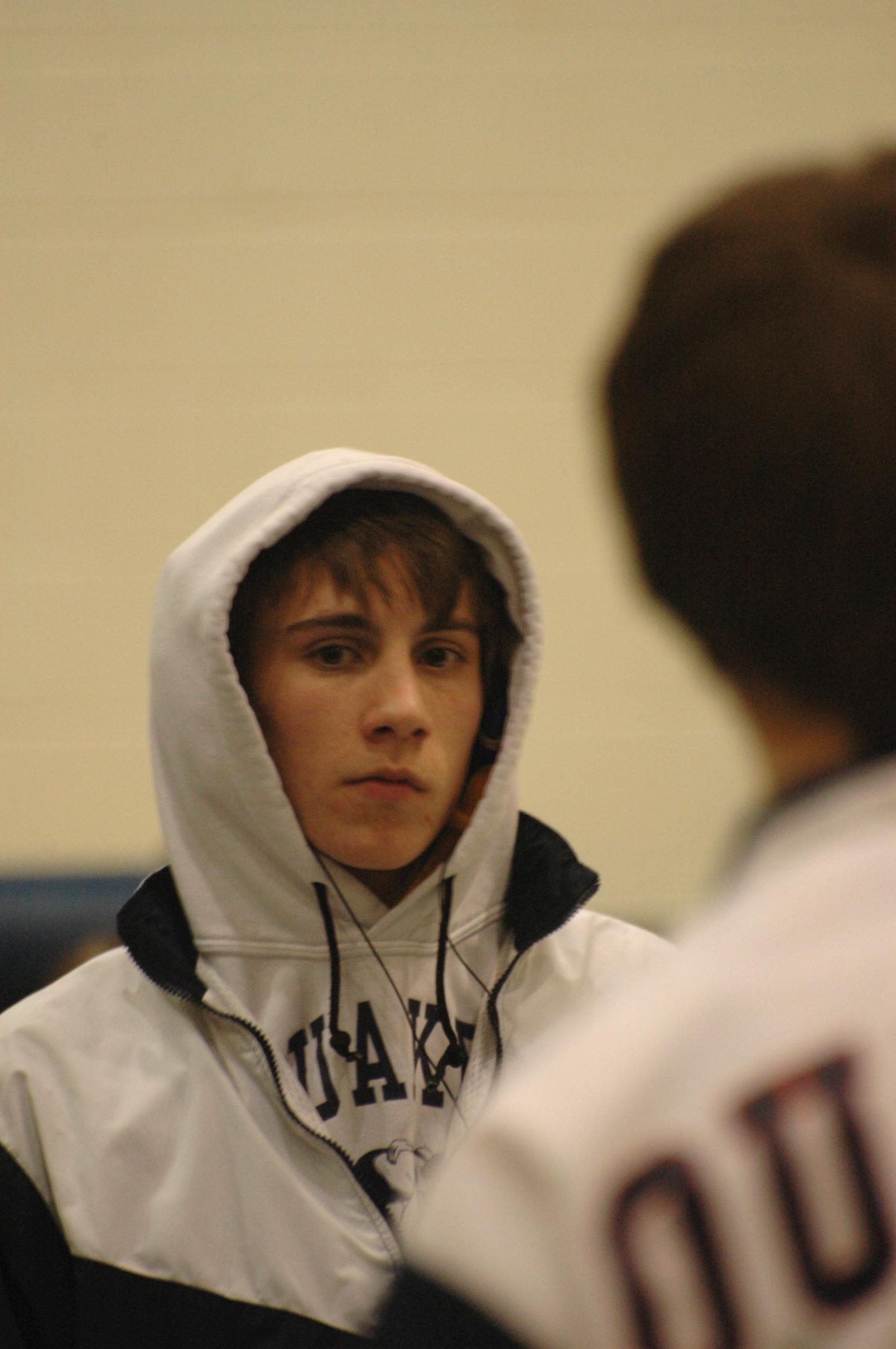 Evan wrestling