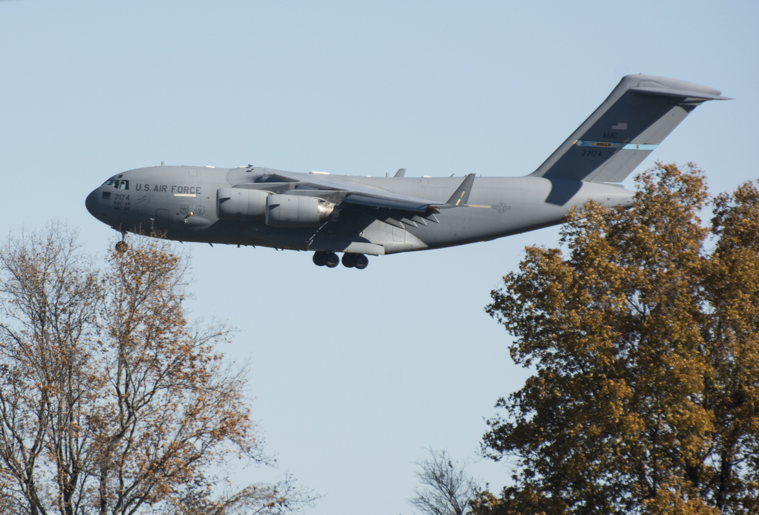 C-17 doing touch and go's at DAFB