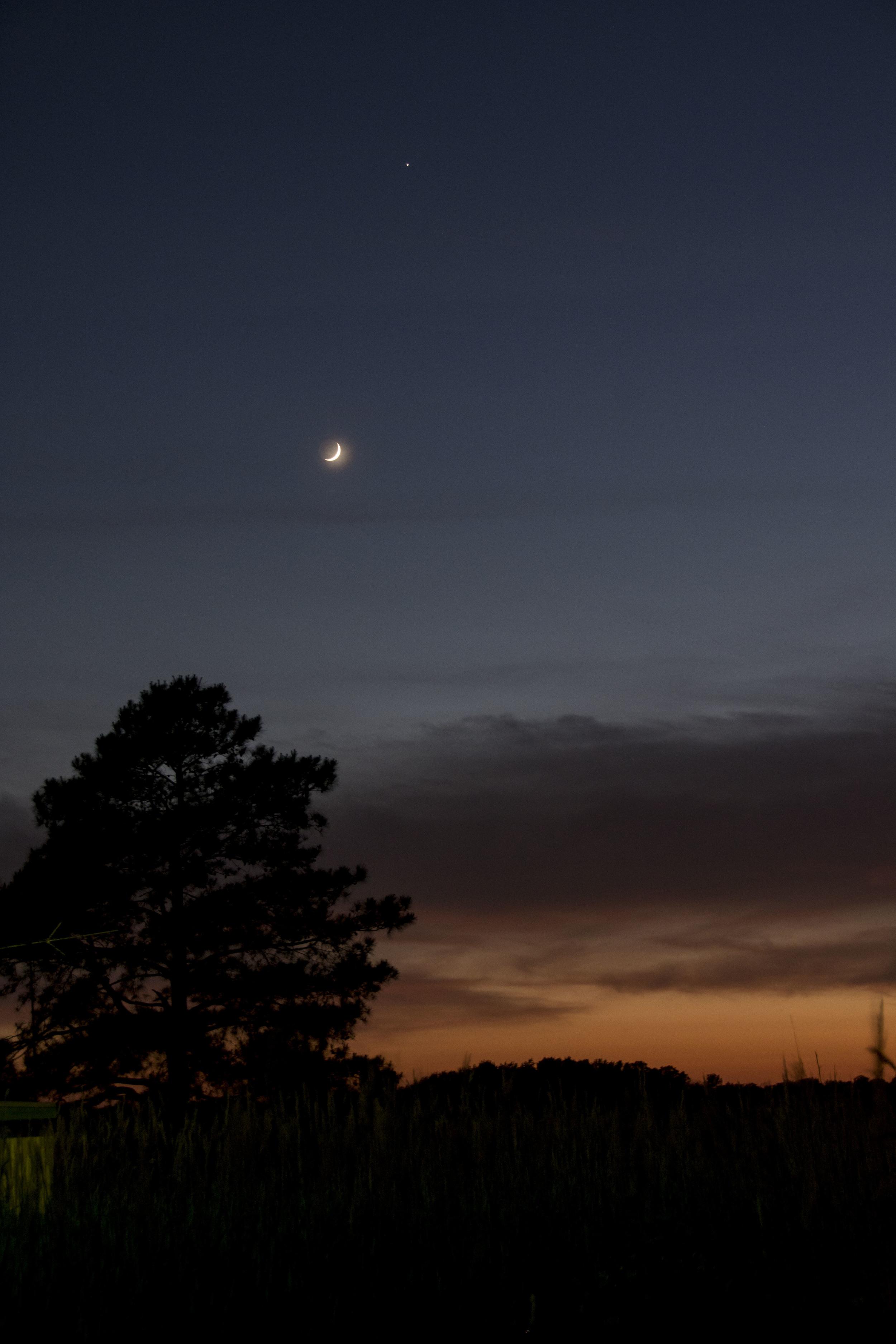 Sunset/moonrise