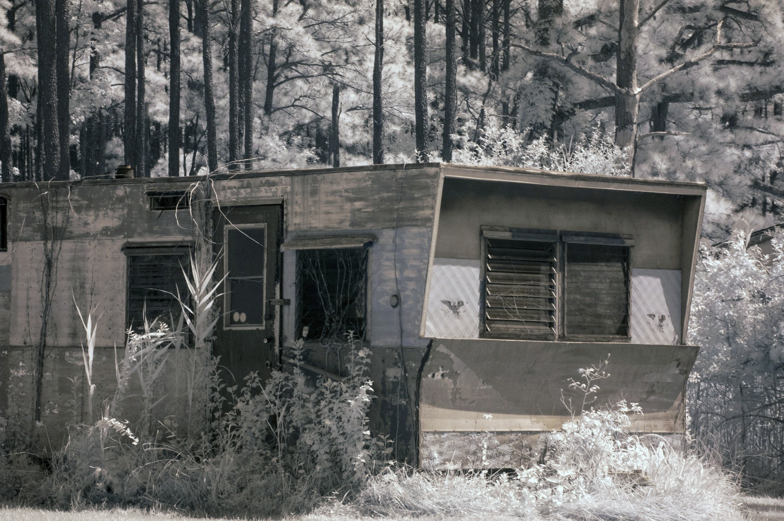 Infrared of old trailer