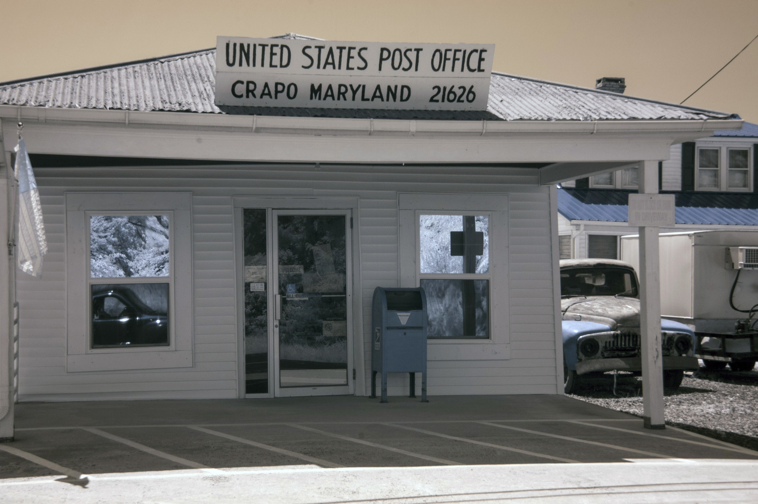 Infrared of Crapo, Md. post office