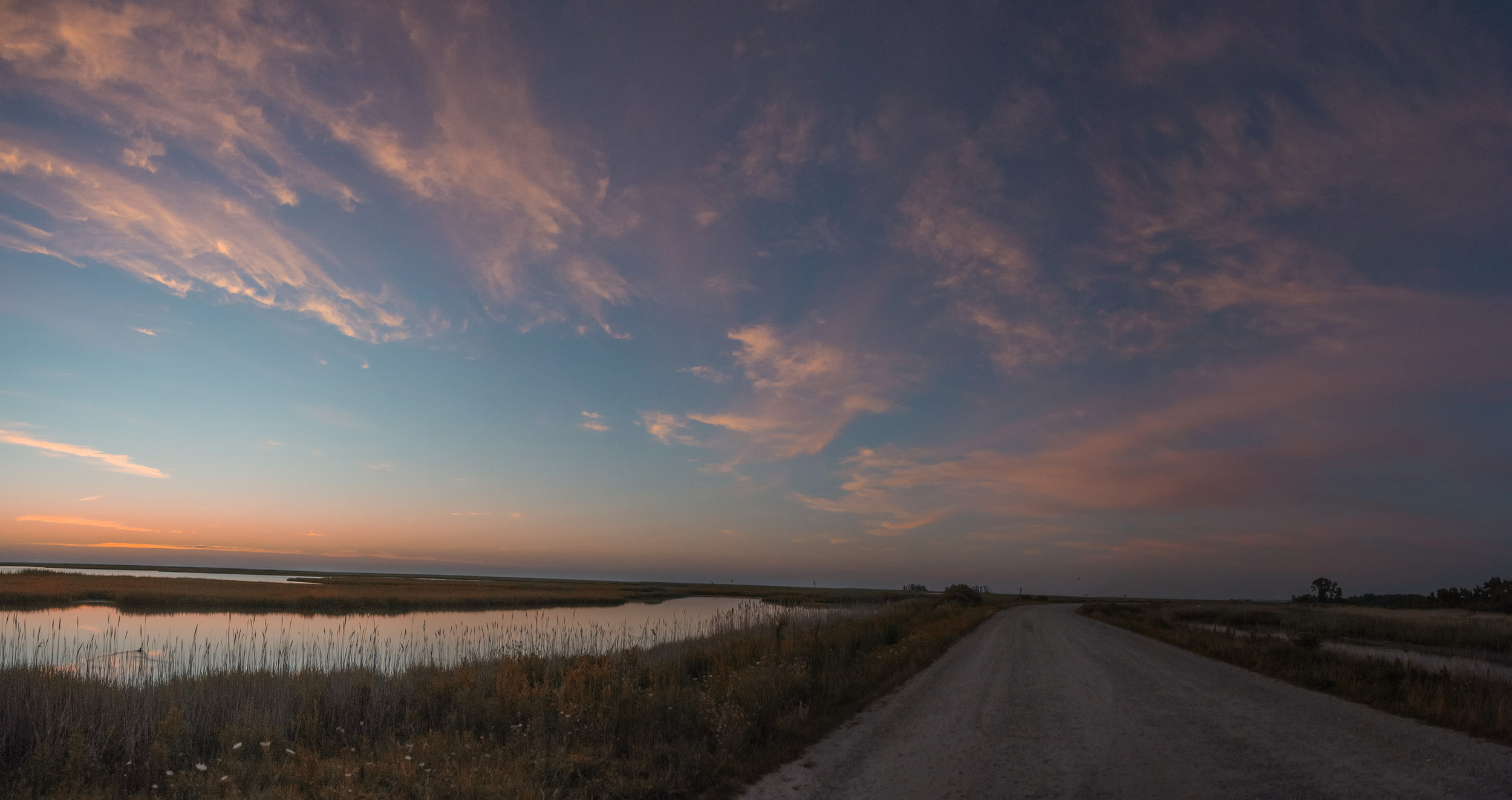 Sunrise pano at Bombay Hook NWR