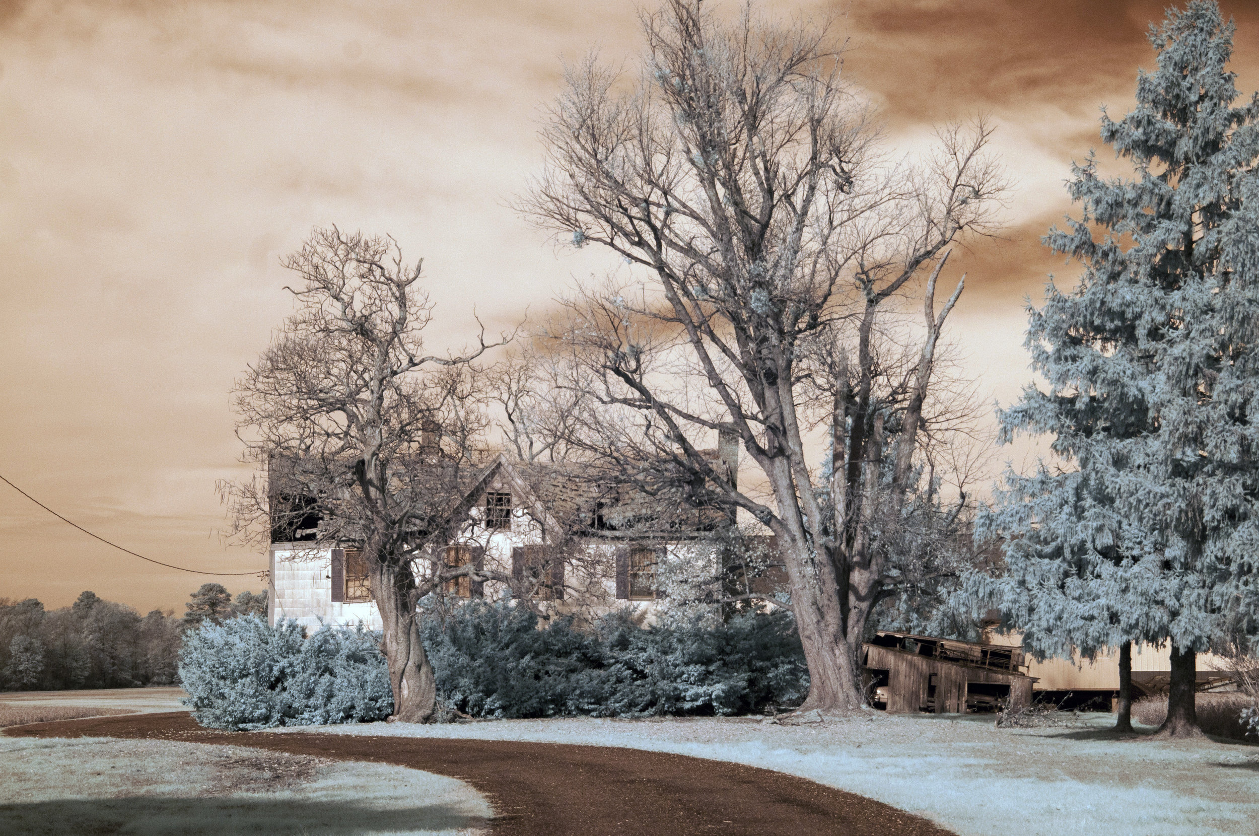 infrared farmhouse near Blackwater NWR