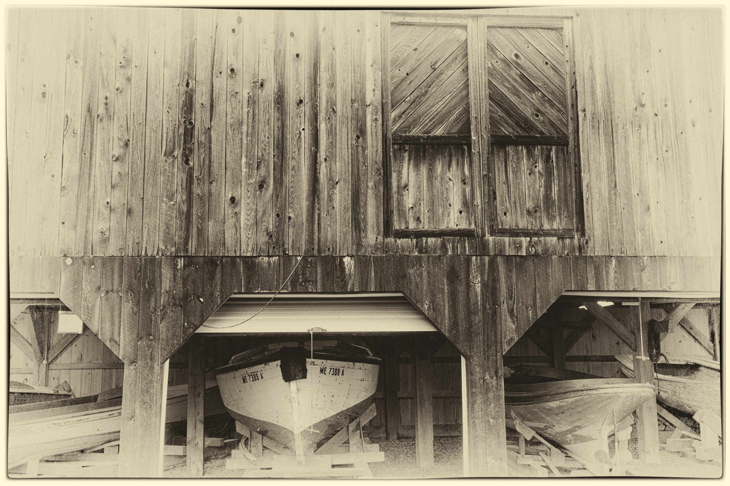 infrared of boathouse at Maine Maritime Museum