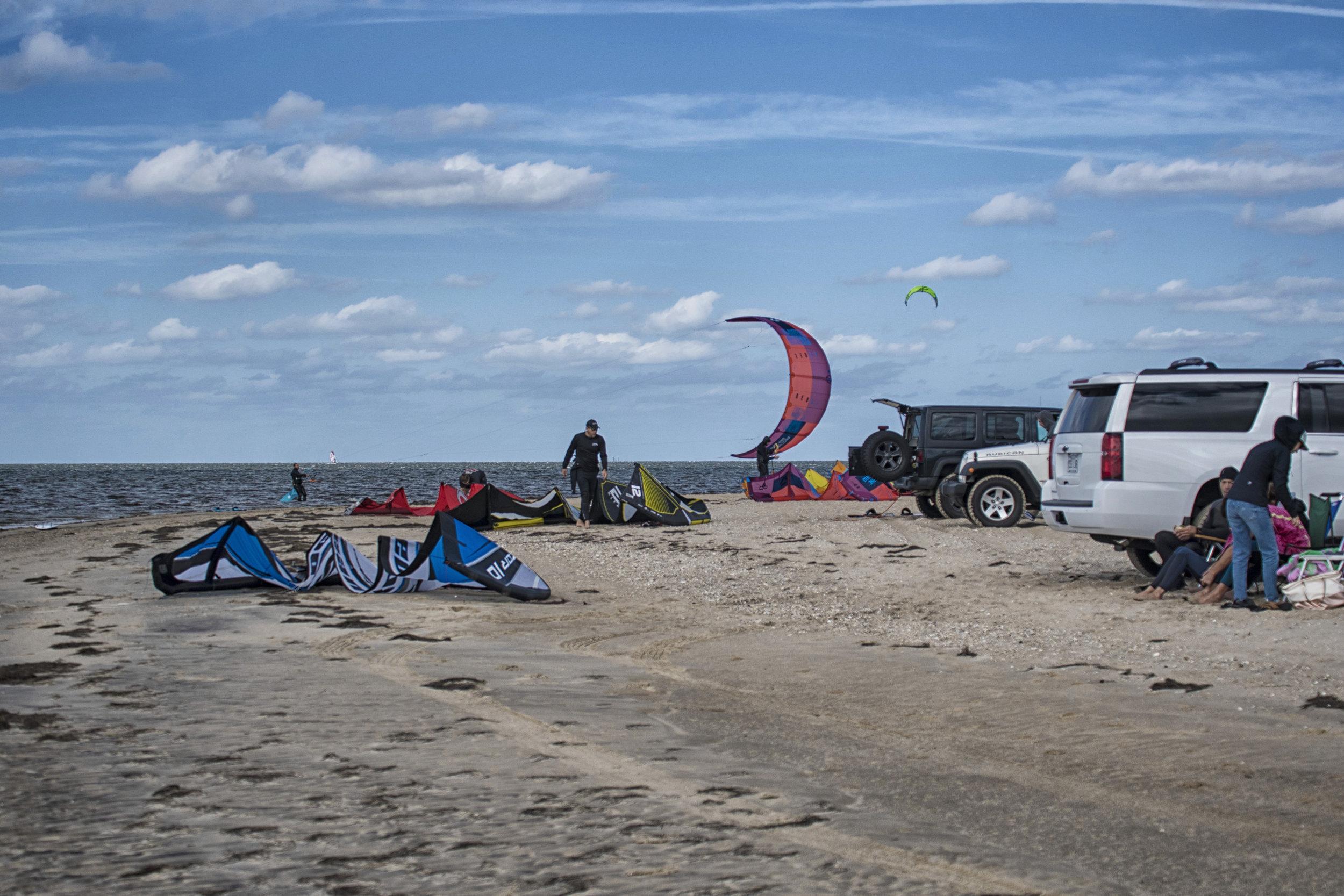 kiteboarders, OBX