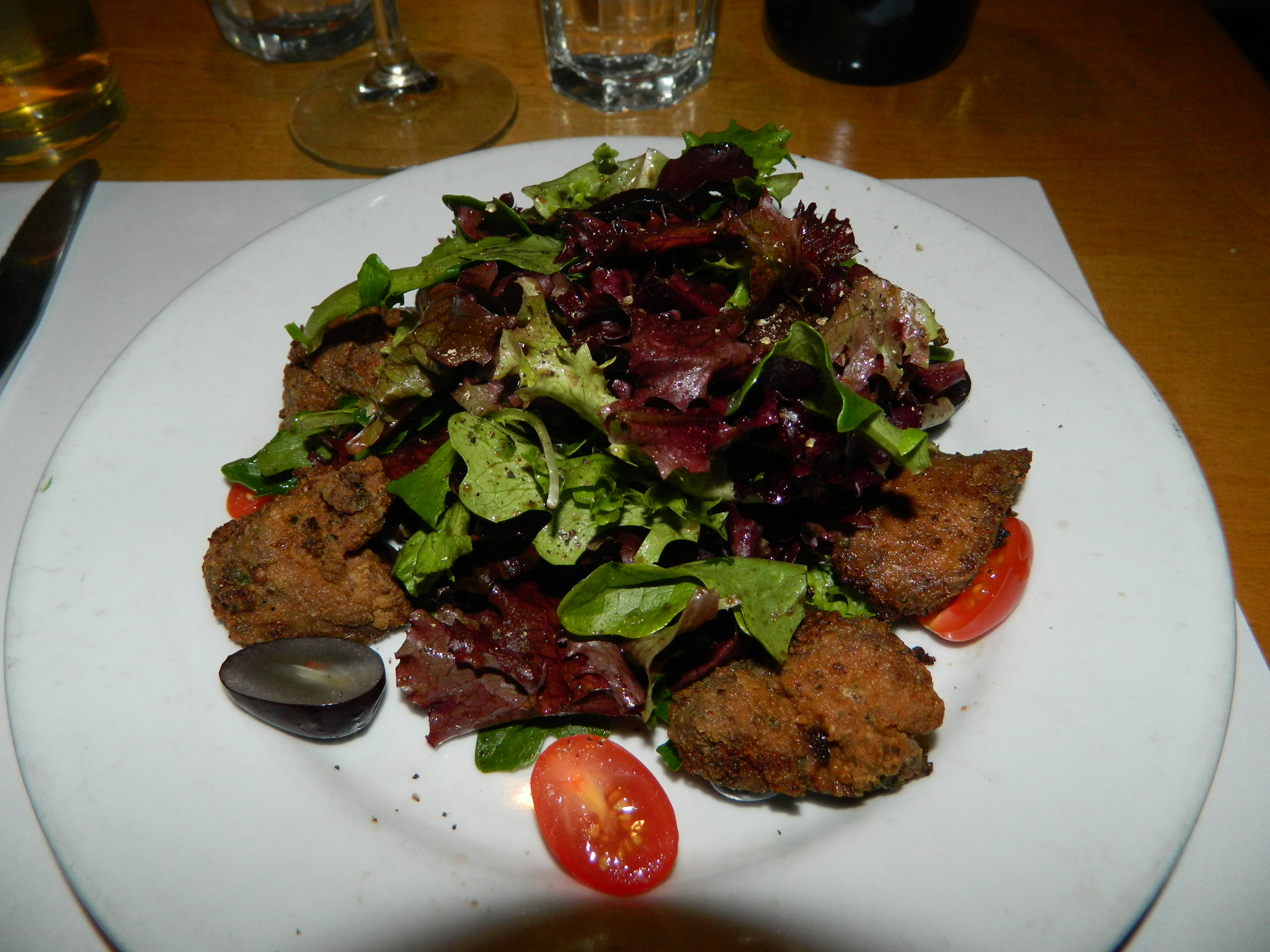 Deep fried Chicken livers