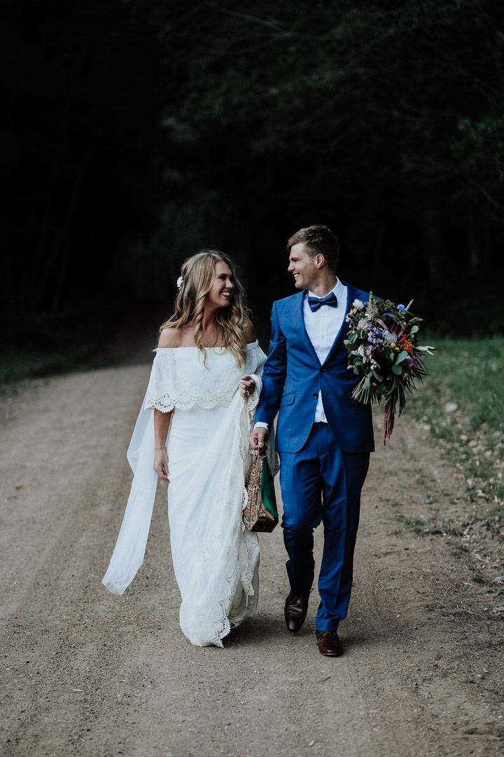 Bride Groom and Bouquet