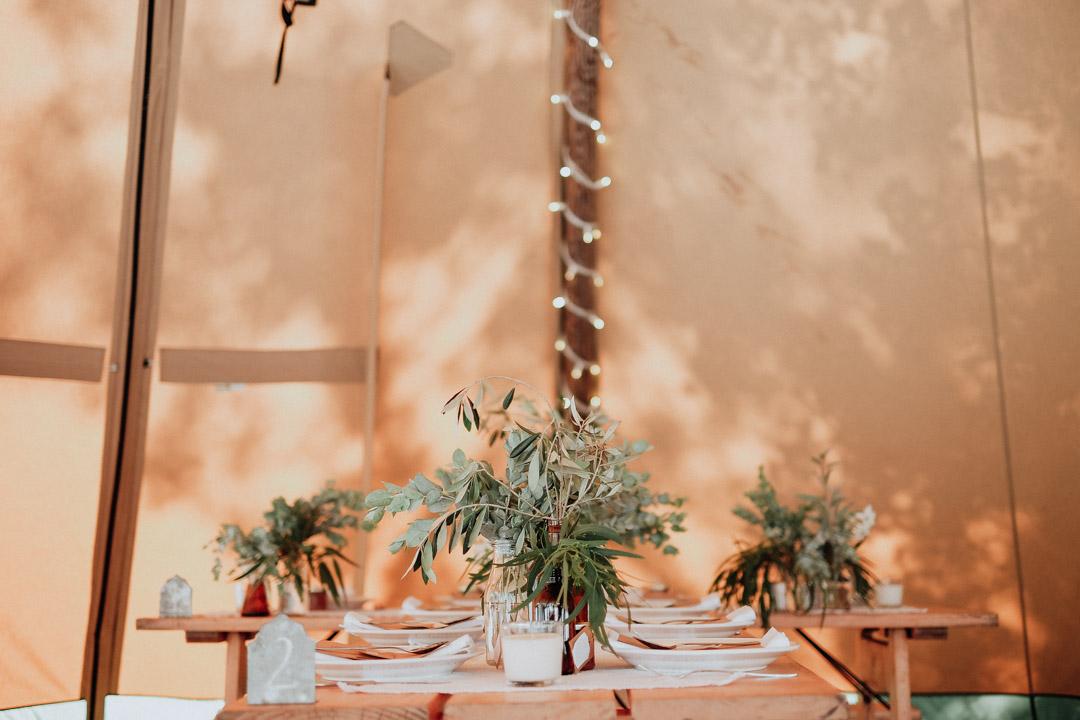 Reception Table Greenery