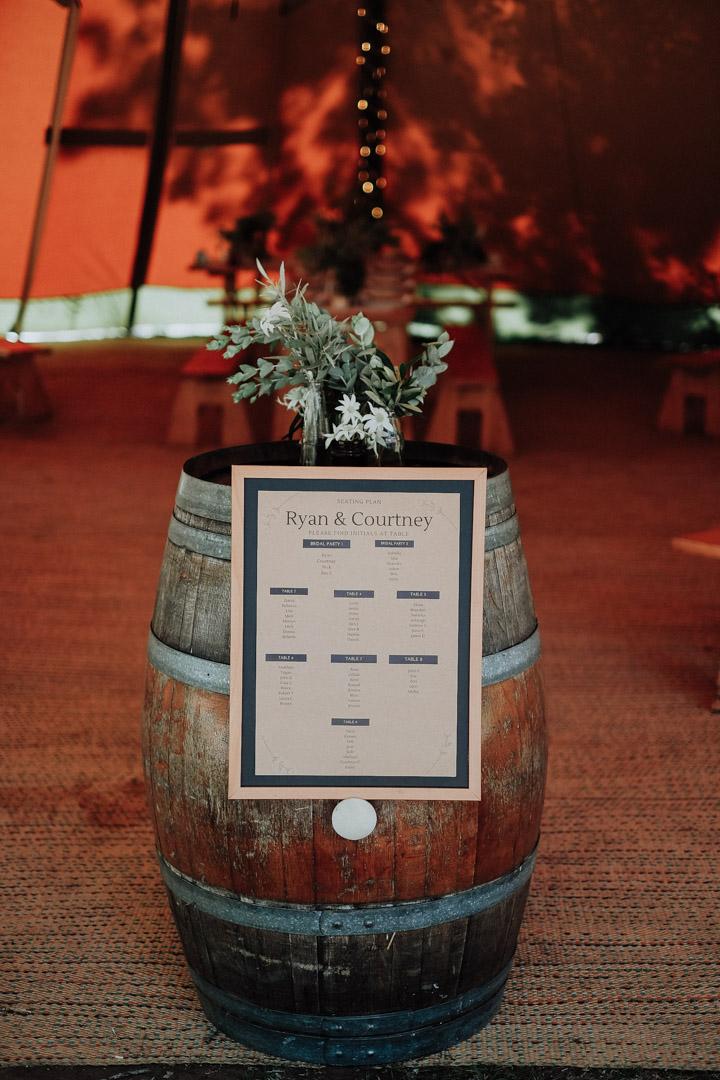 Reception Barrel Greenery