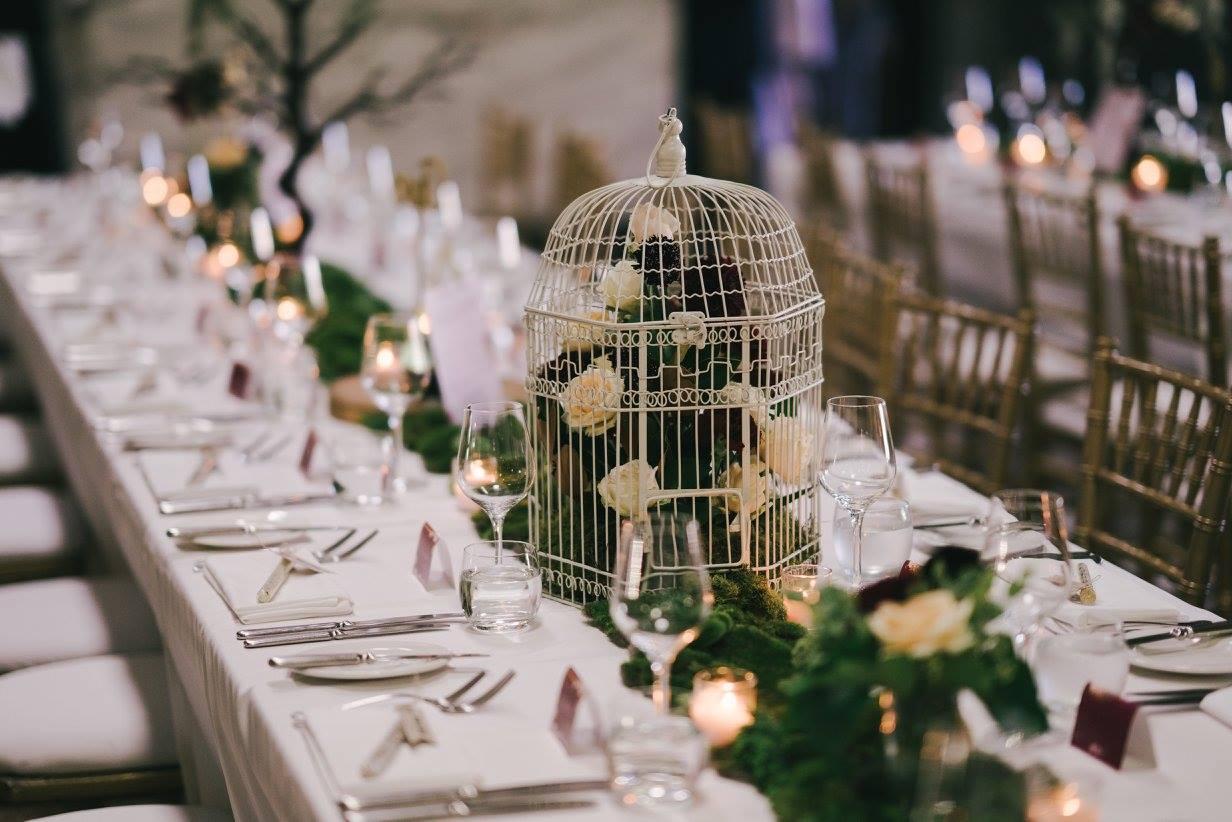 Reception Florals Birdcage