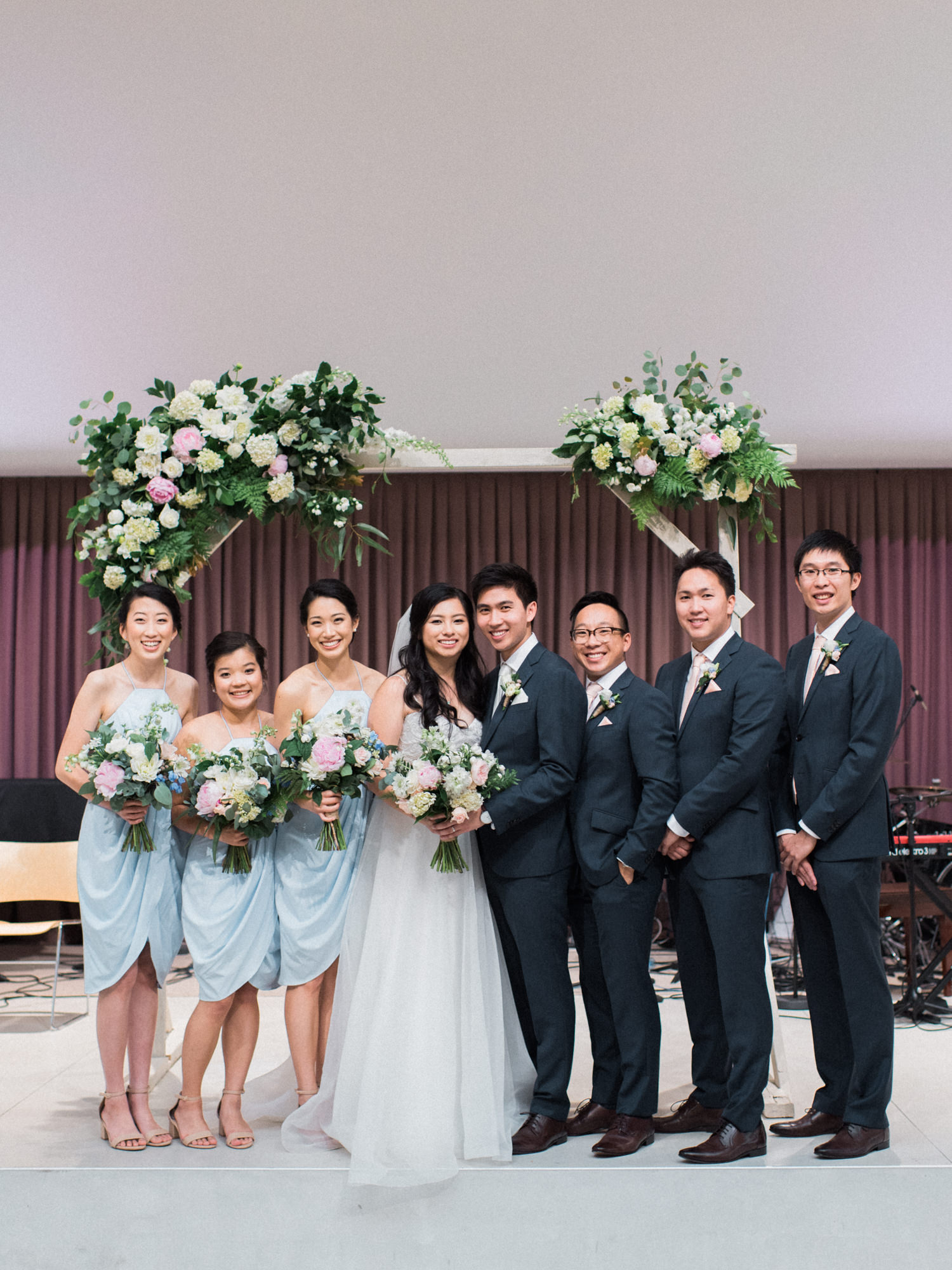 Bridal Party and Arch