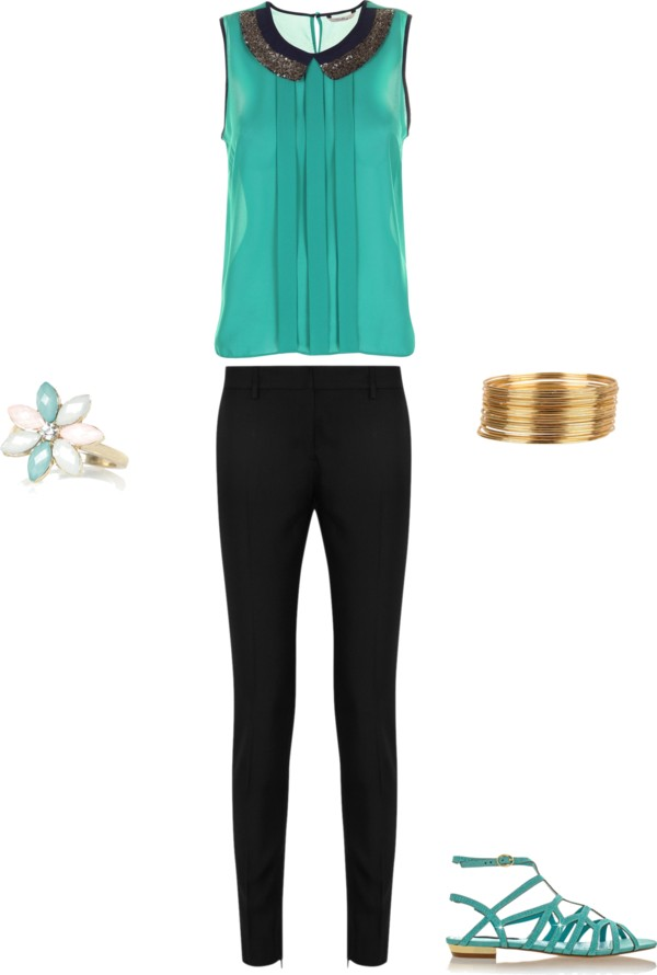 Turquoise and Gold Women's Outfit {OKC Portrait Photographer}