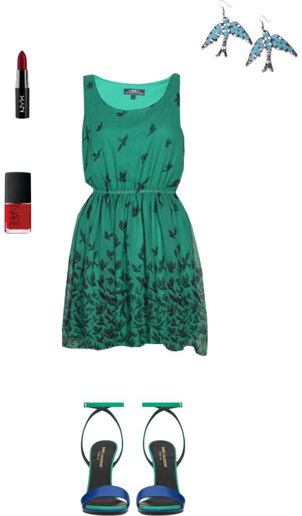 Green Dress   Women's Outfit Inspiration {OKC Portrait Photographer}