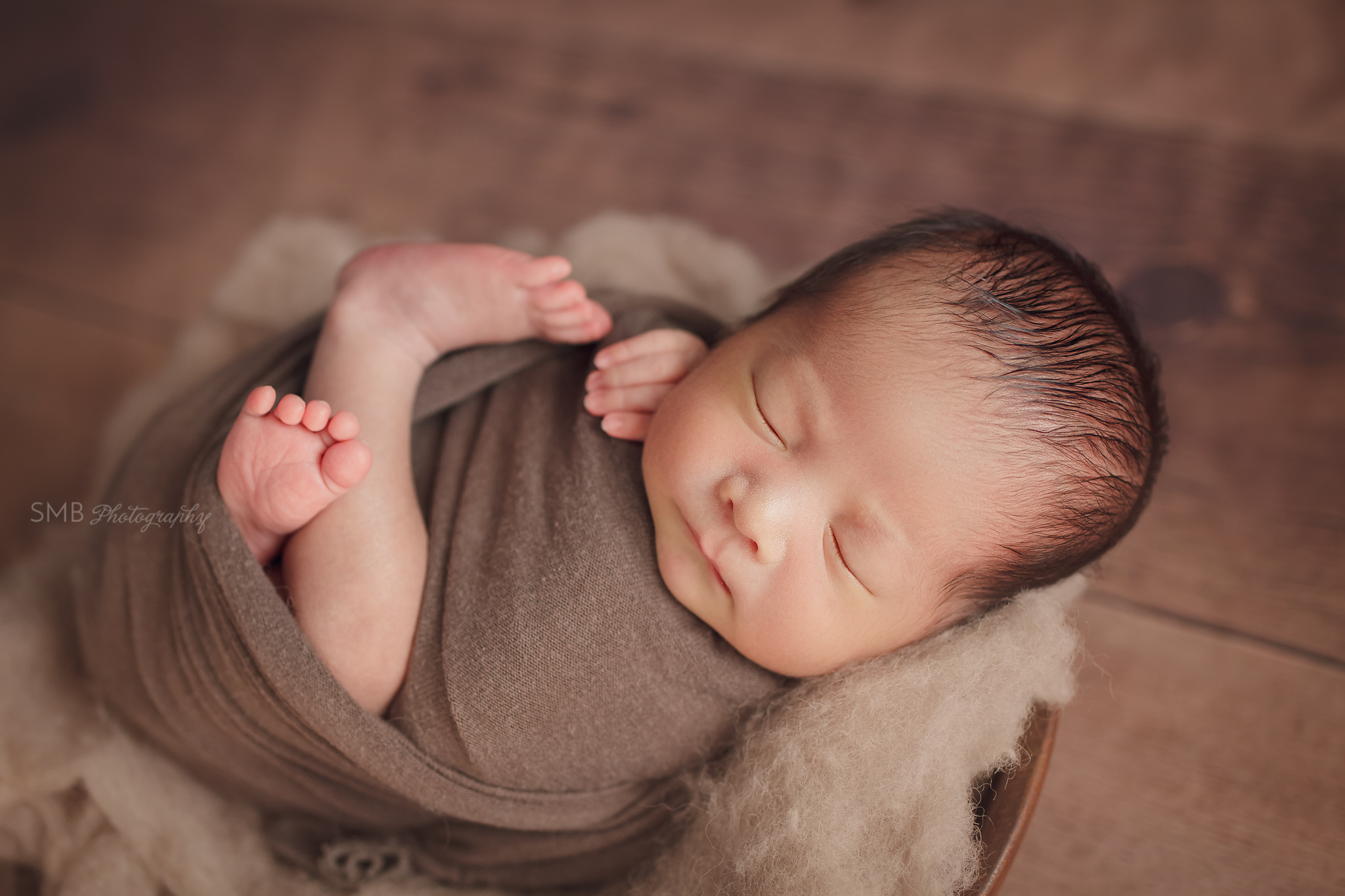 Wrapped Newborn Mini Session | Baby Ivan