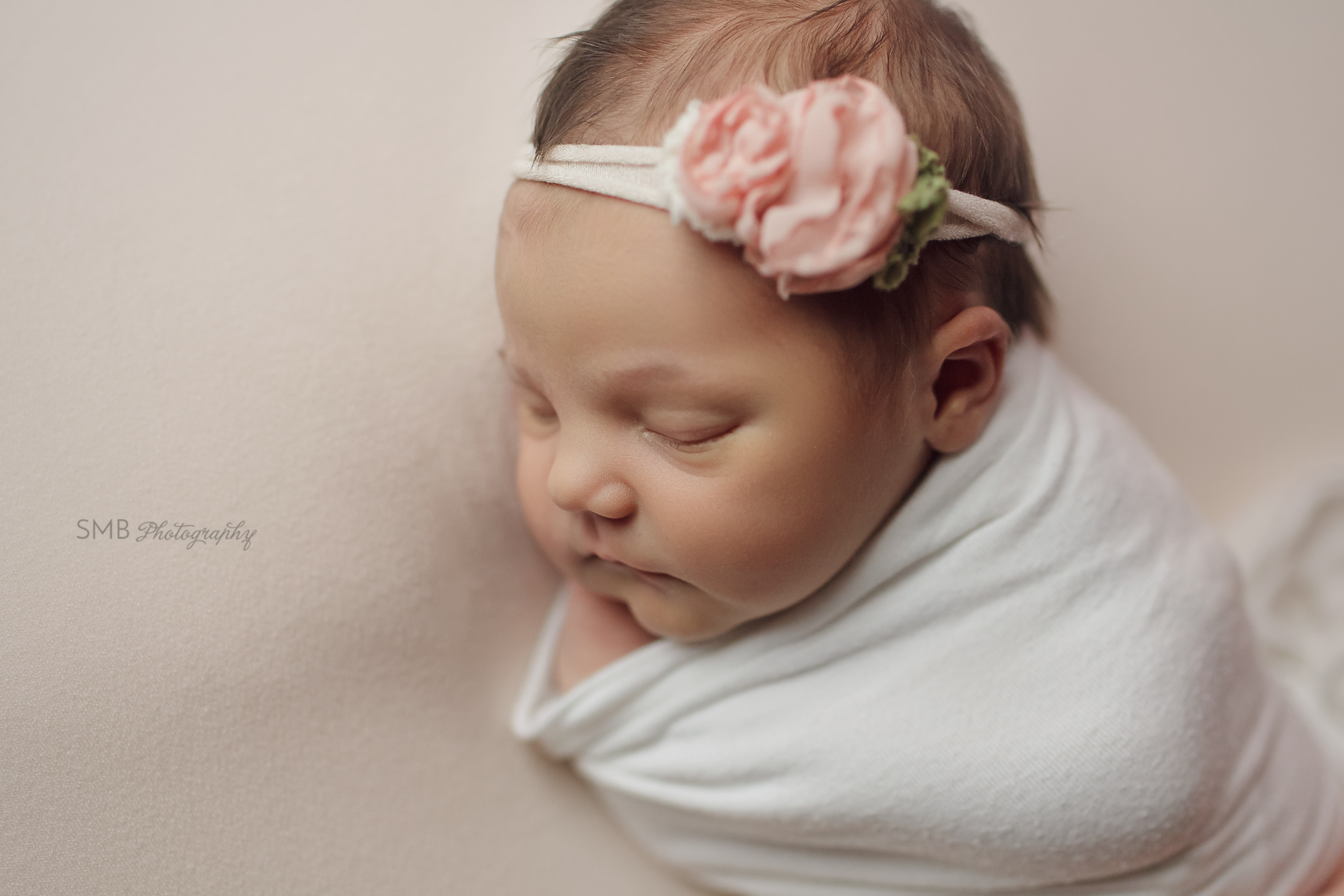 Profile of newborn girl