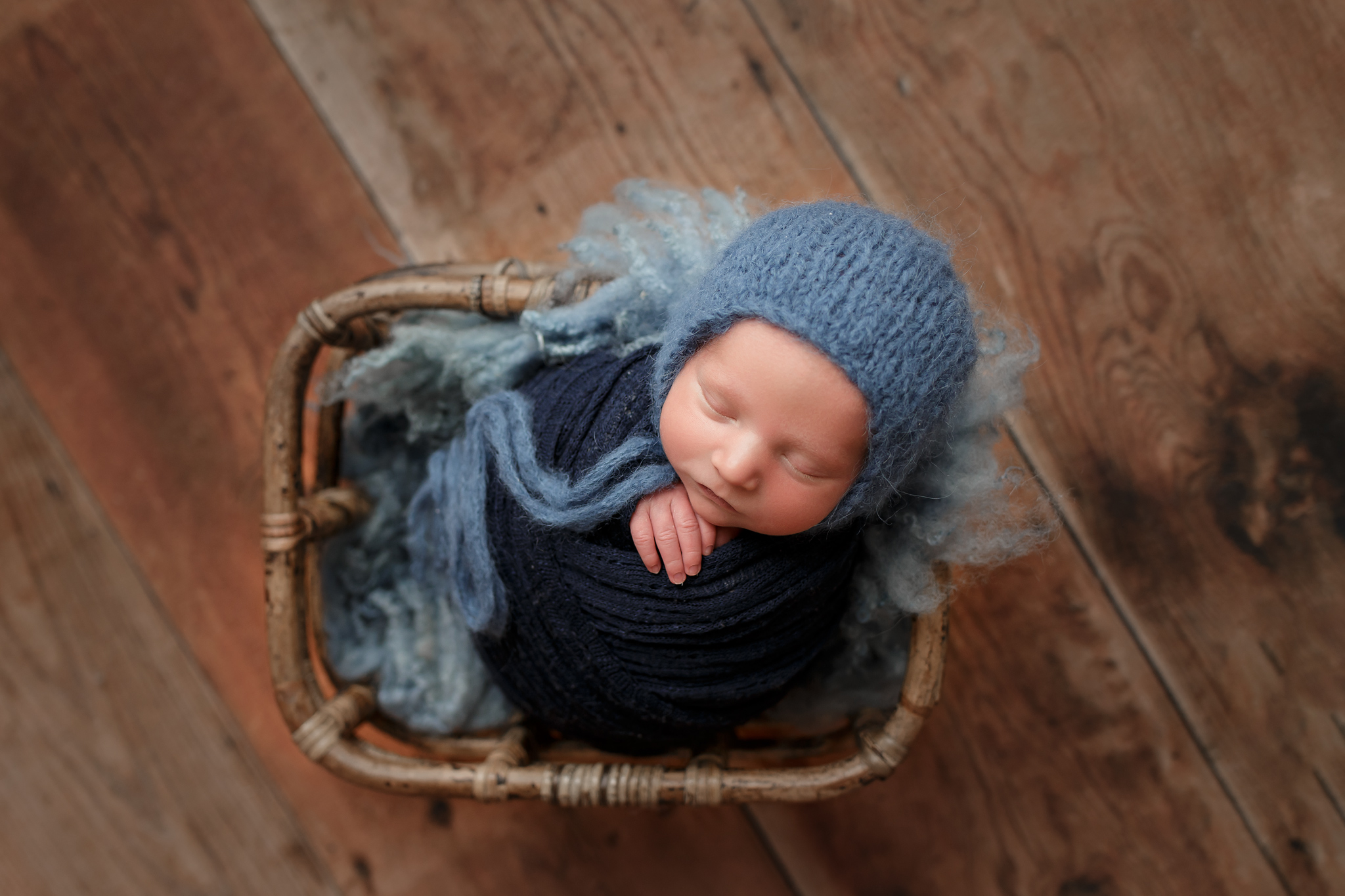 Easton | Wrapped Newborn Session Oklahoma City