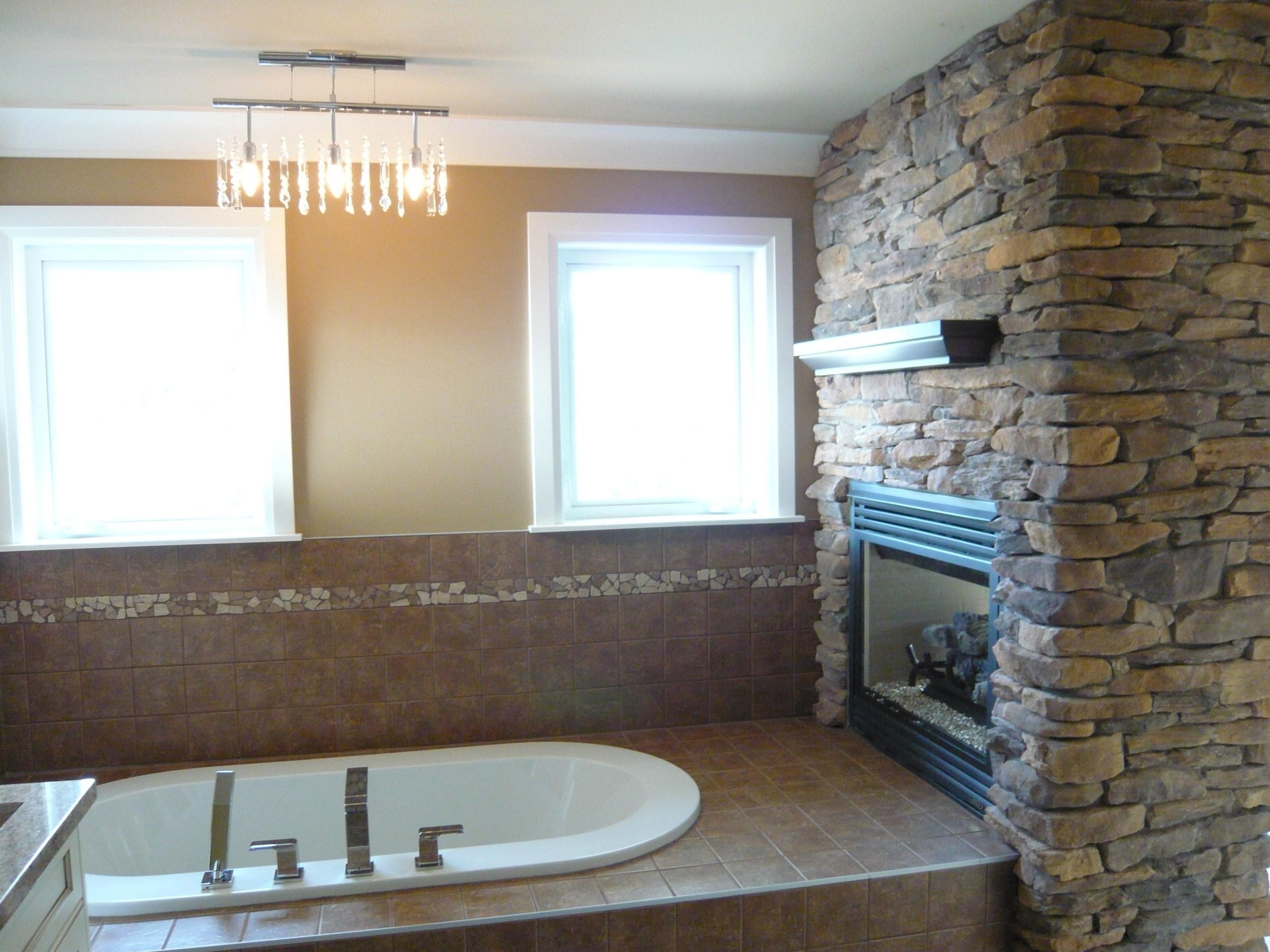 Soaker Tub Fireplace
