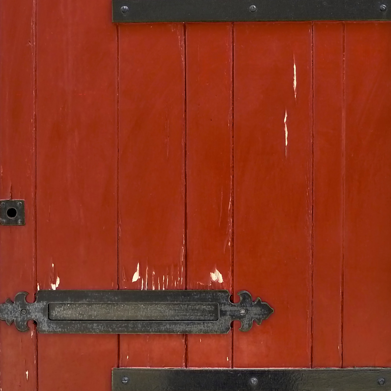Red Door with Black Iron, Alesandria, Italia