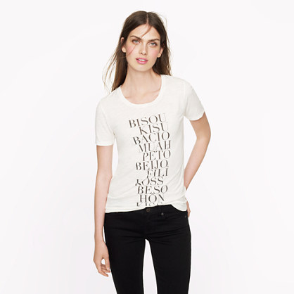 J Crew kisses shirt