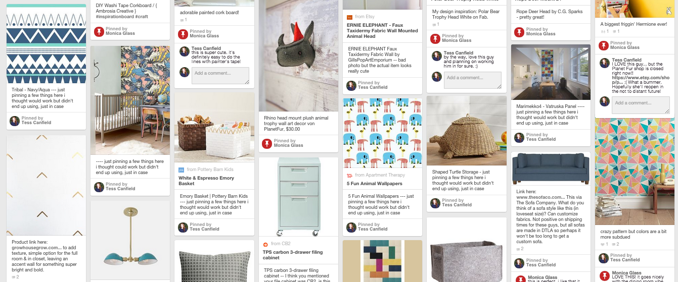 Monica's Pinterest Page