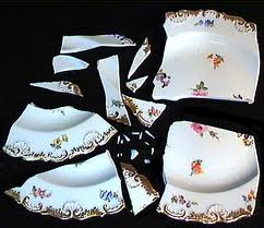 And yeah, I know the pattern doesn't match. I wasn't actually going to use my own set of antique dishes. Judge me.
