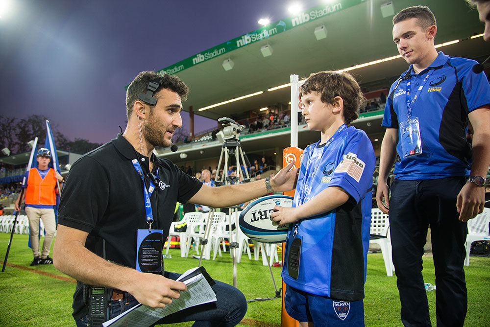 Western Force Match Ball Delivery