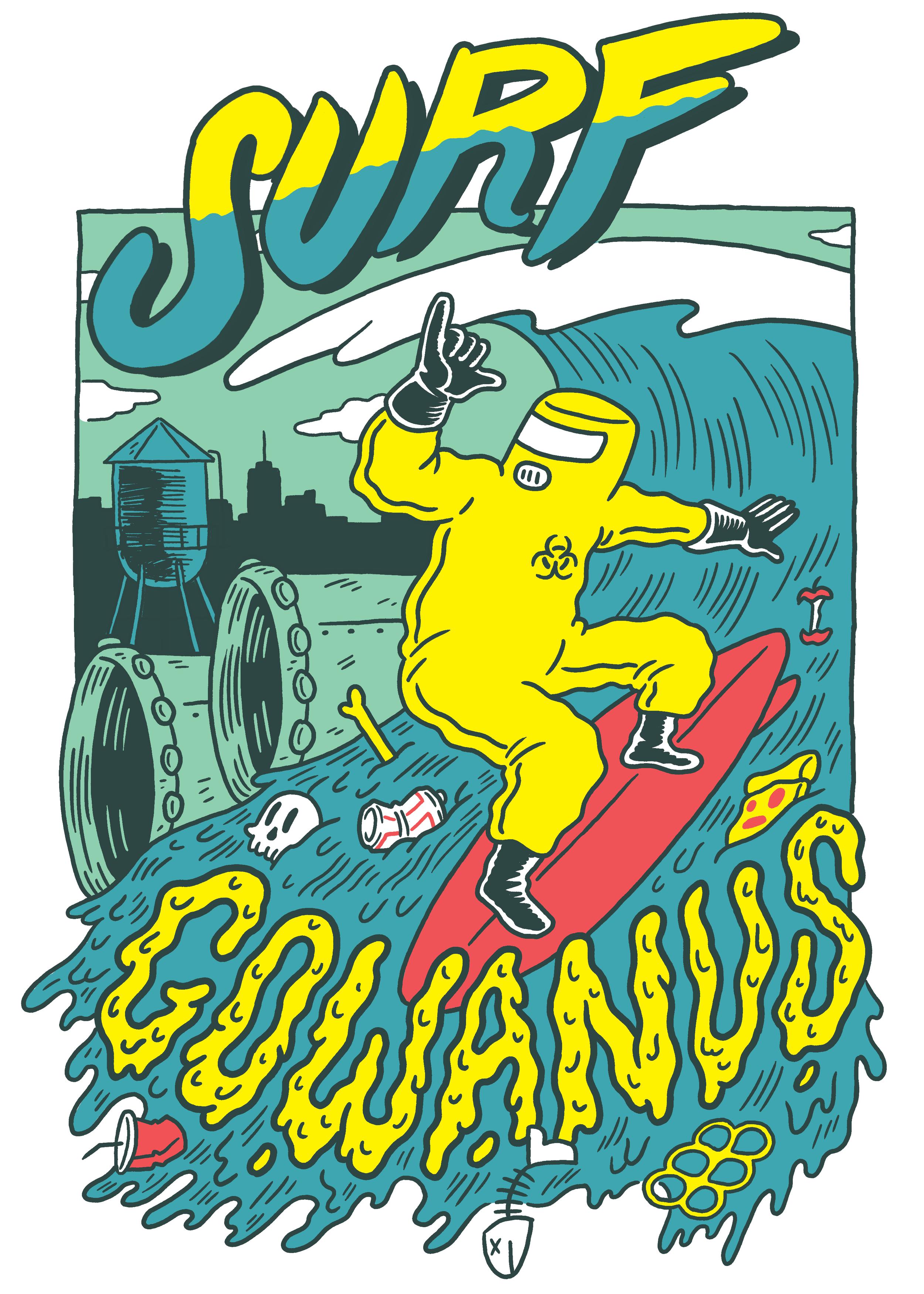 Surf Gowanus Tee Design