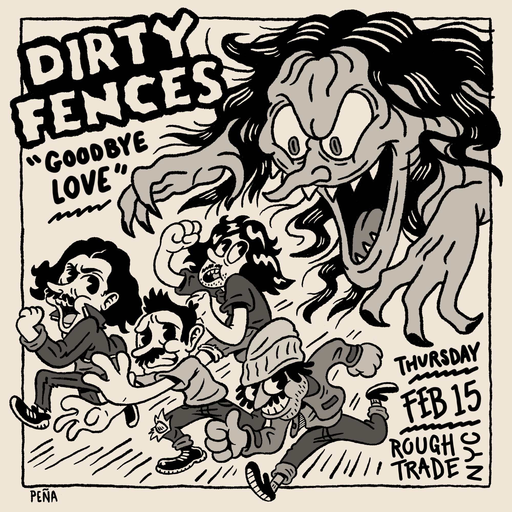 Dirty Fences Flyer