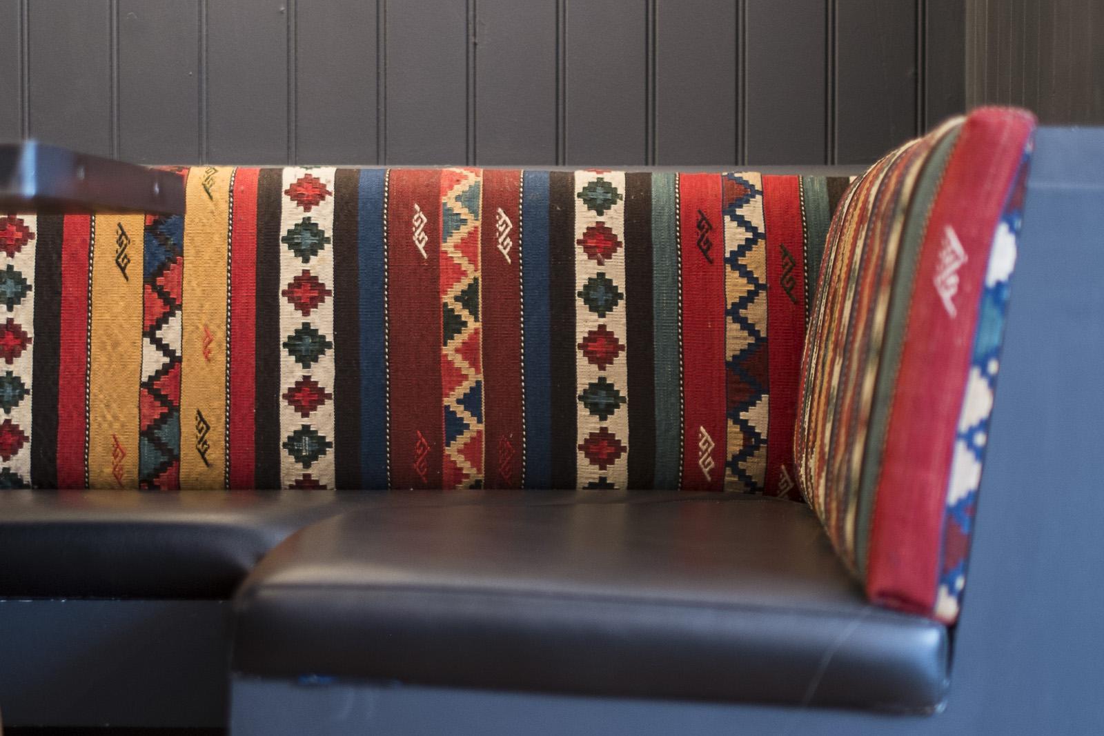 vintage kilim upholstery
