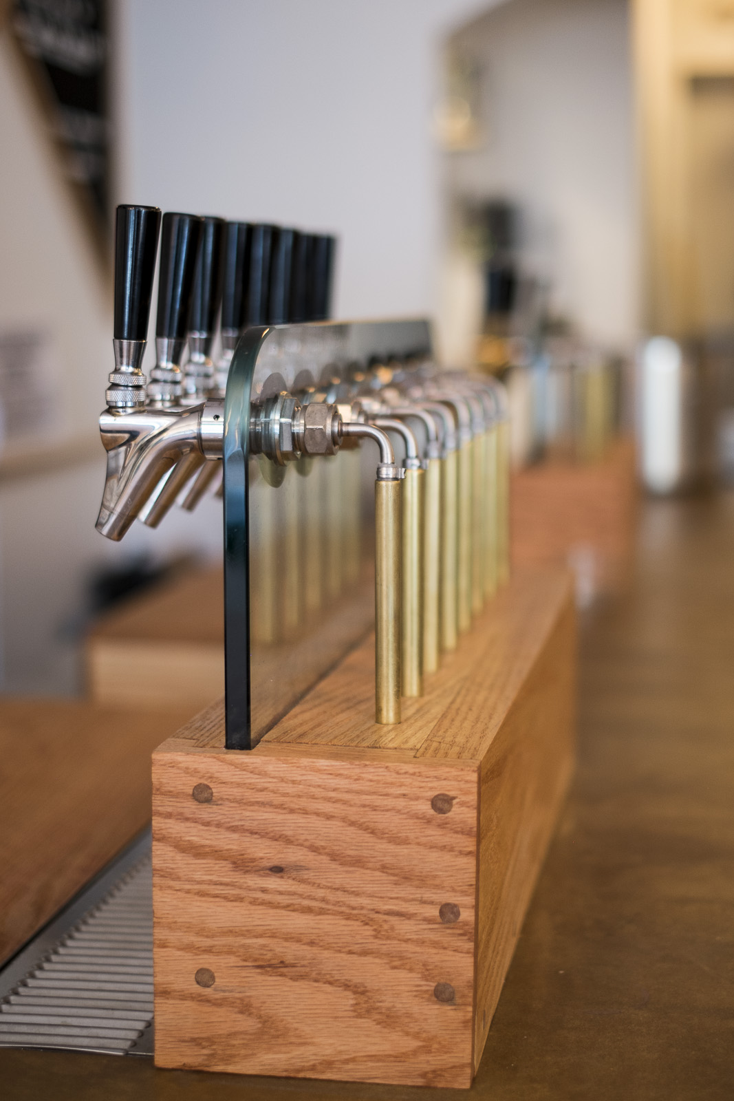custom wine tap tower