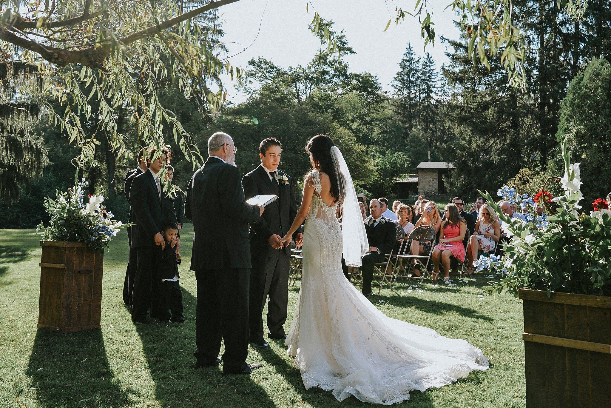 Wedding ceremony- Green Gables
