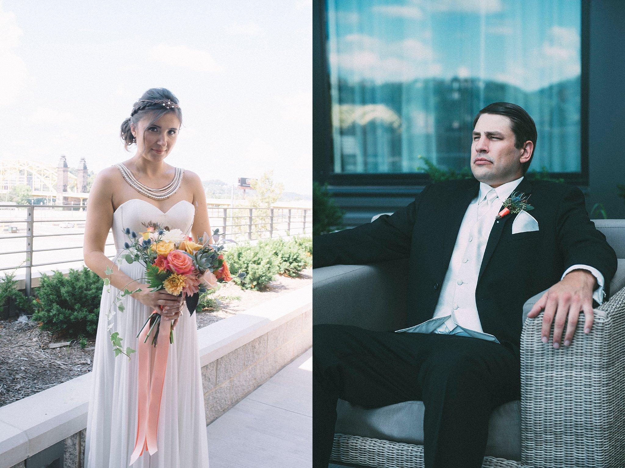 Groom Bride Portraits