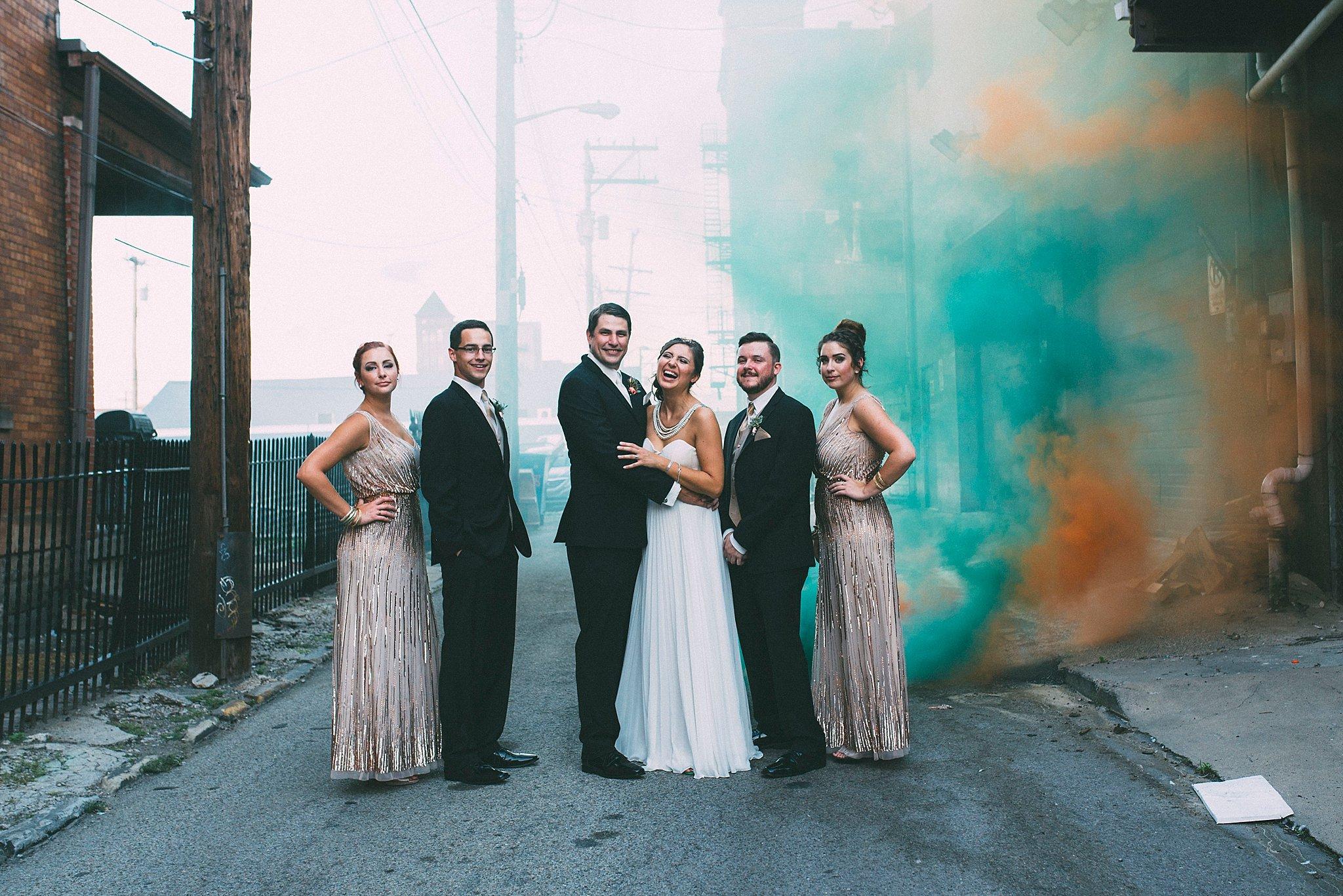 Smoke Bomb wedding pictures