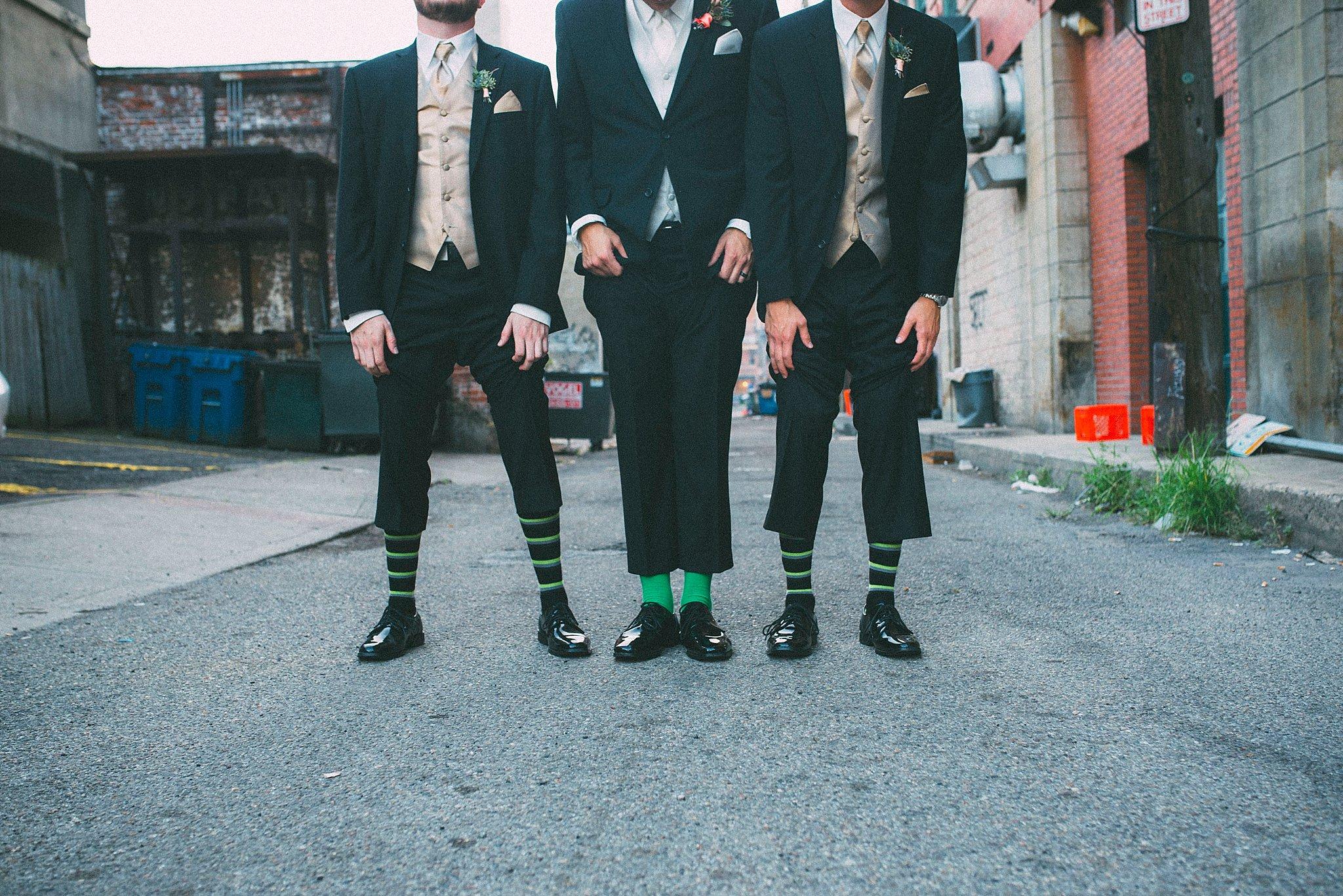 Matching socks groomsmen