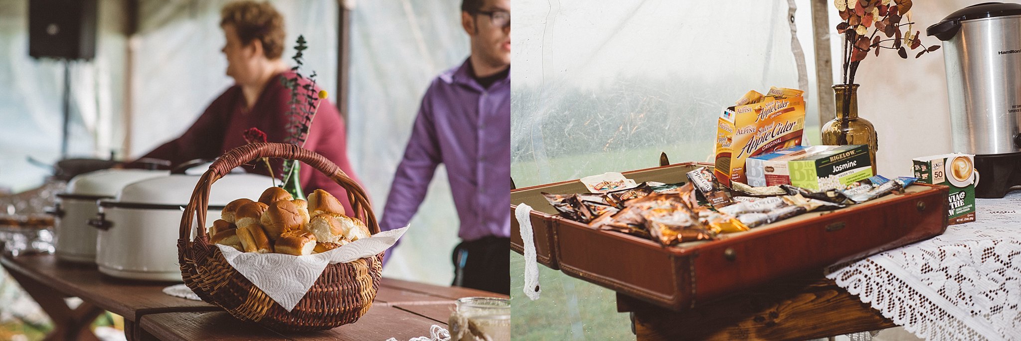Rustic buffet - Pittsburgh wedding
