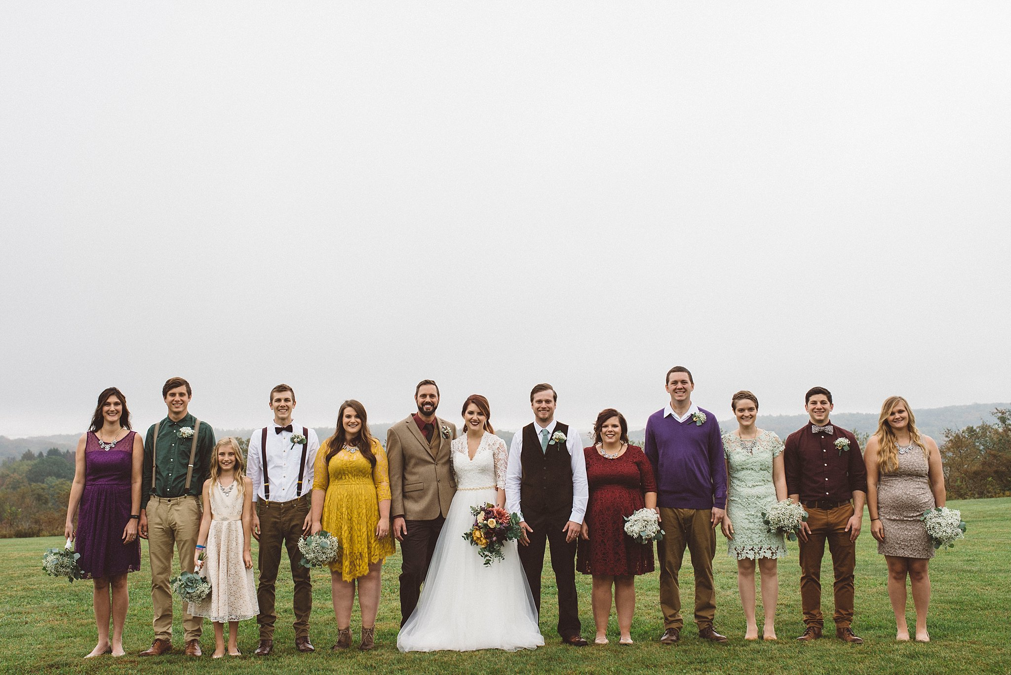mismatched wedding party Pittsburgh