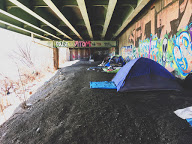 Homeless camp under Pittsburgh's Bridge