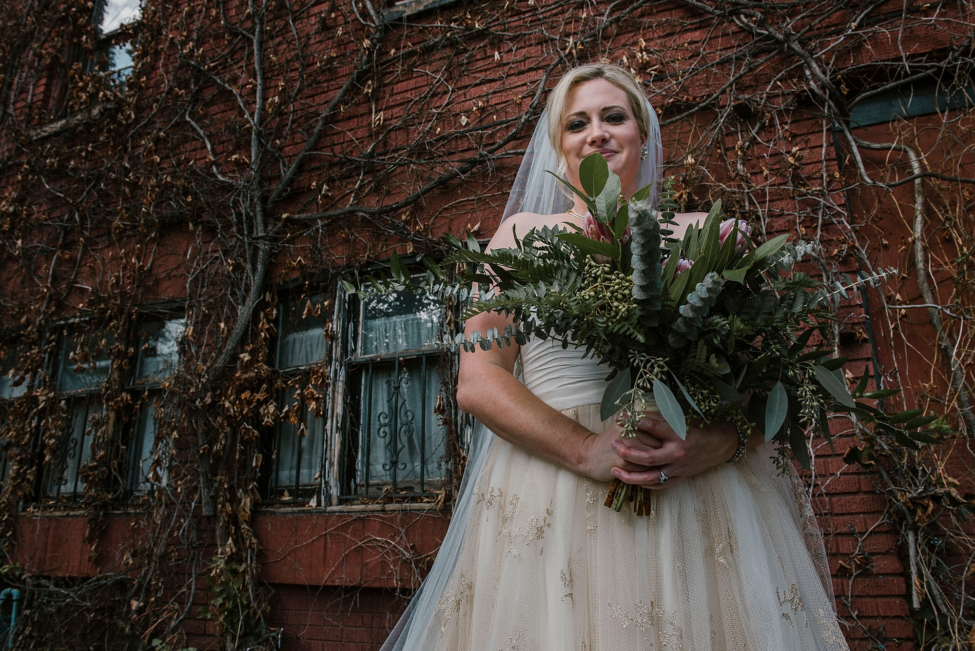 Bride portrait North Side Pittsburgh