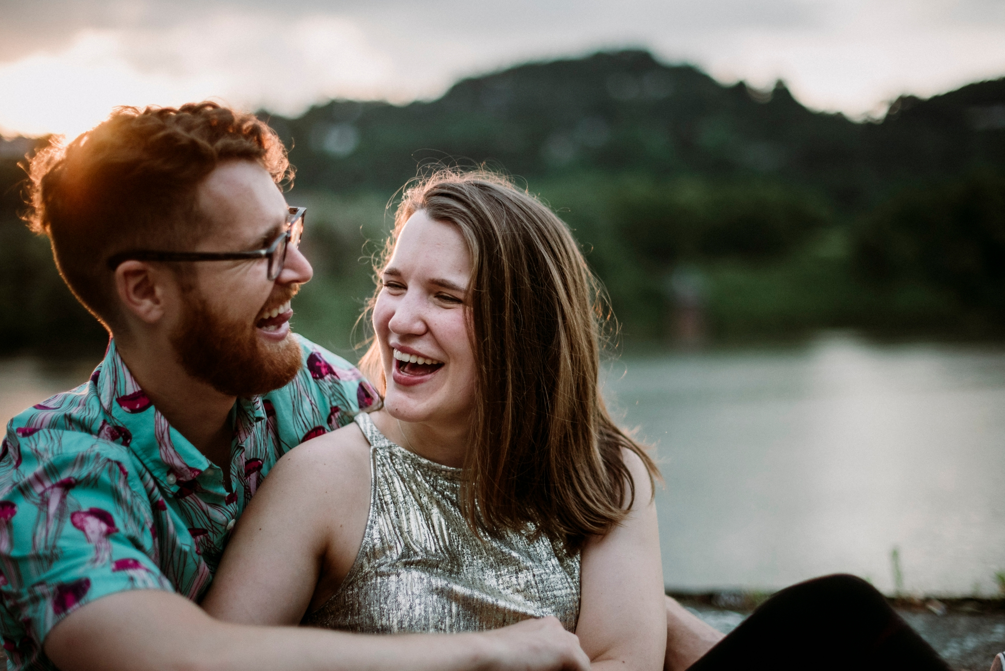 hipster engagement photography