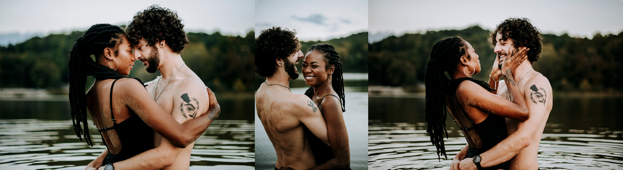 Engagement session fun water