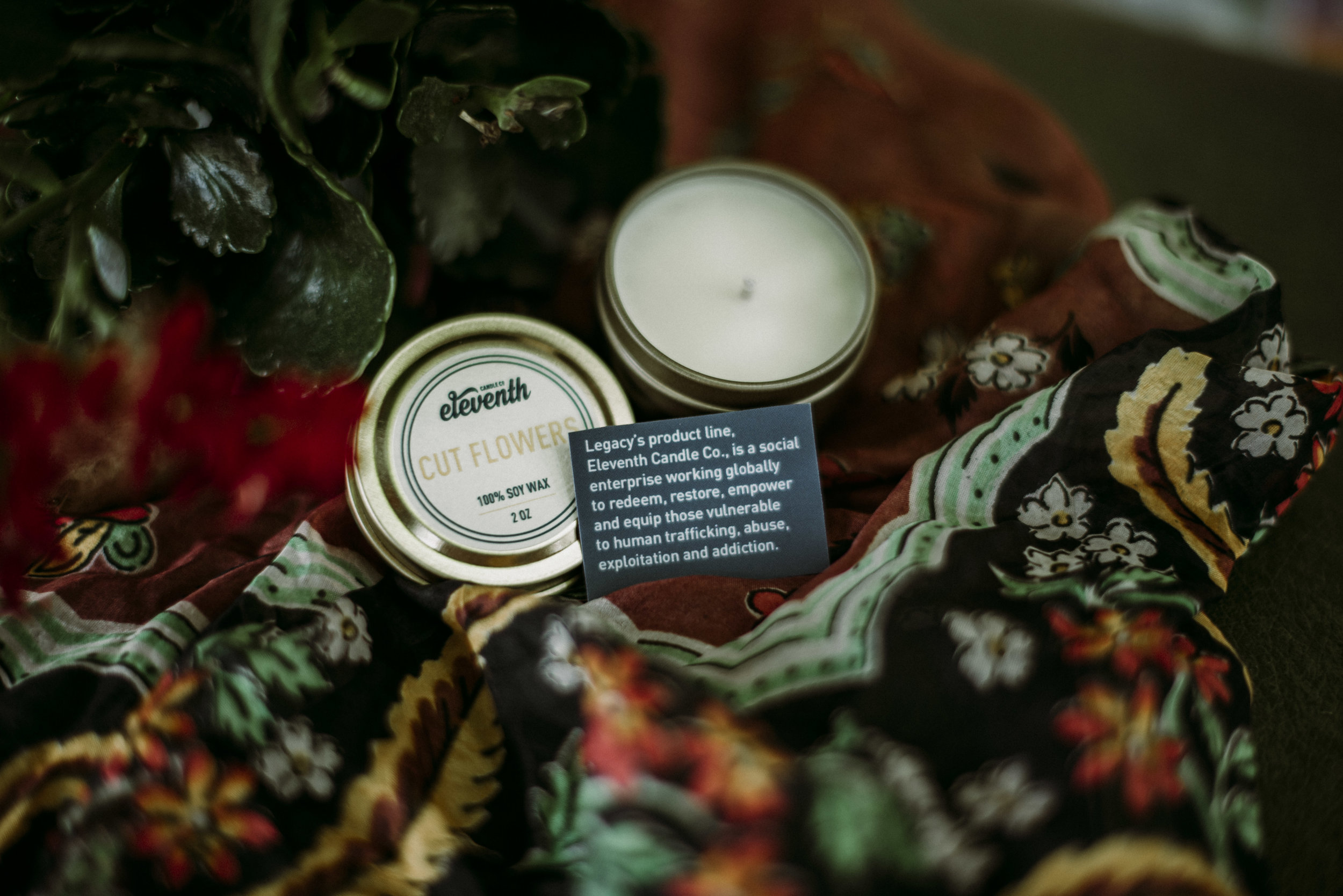 Candles from ex trafficked women