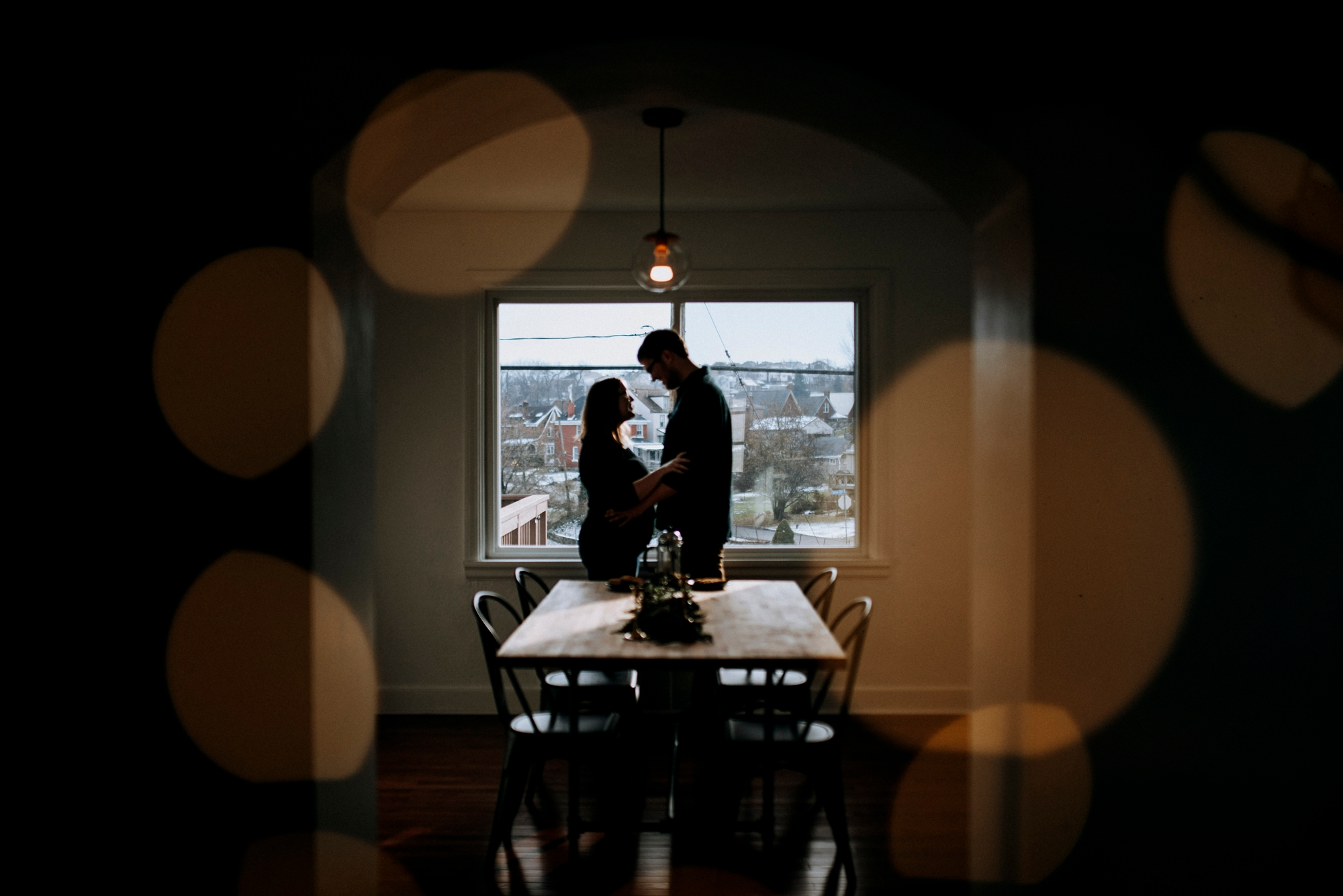 engagement pictures at home
