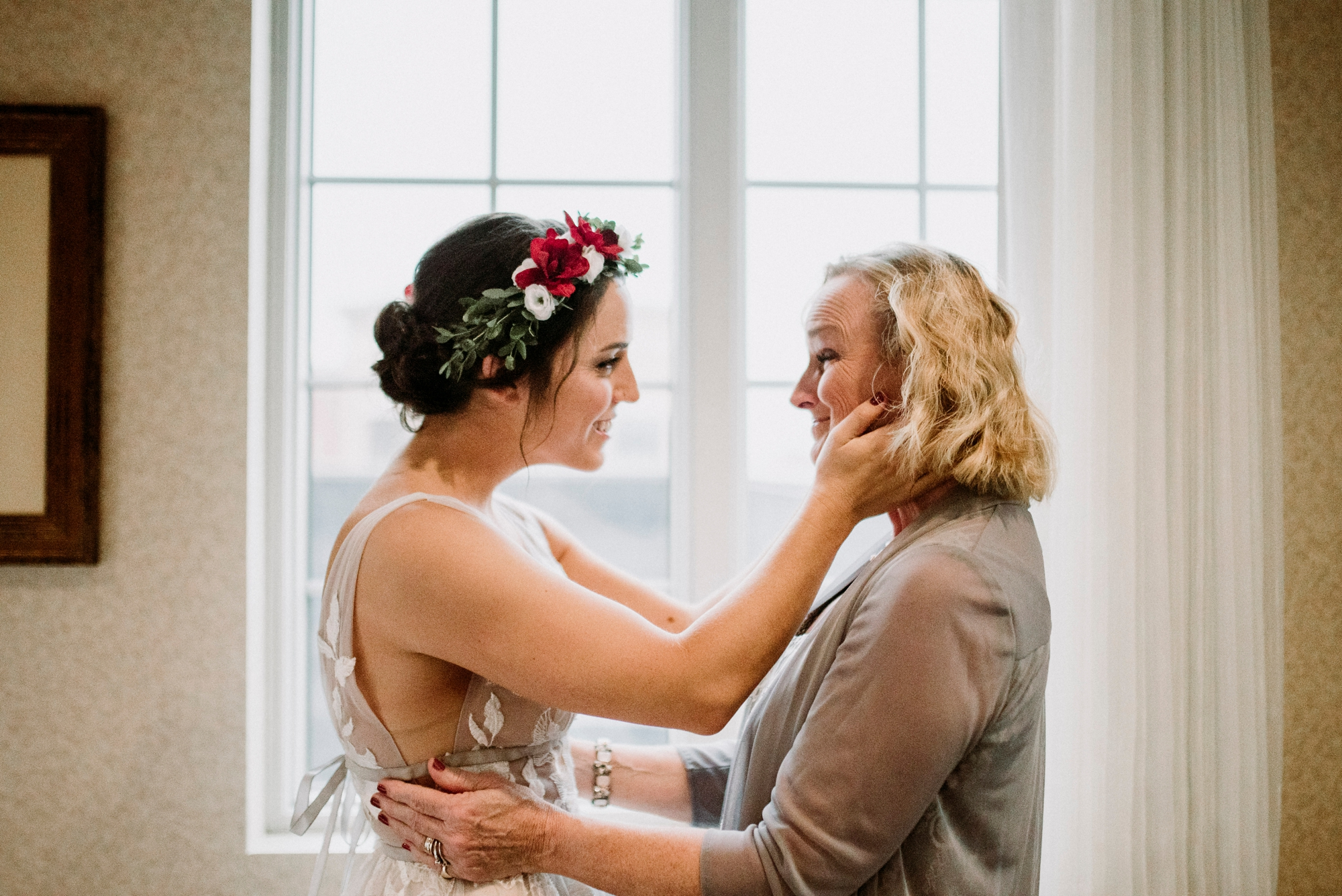 mom and daughter wedding