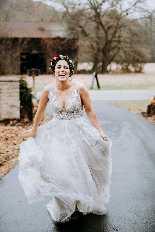 bhldn wedding dress bride