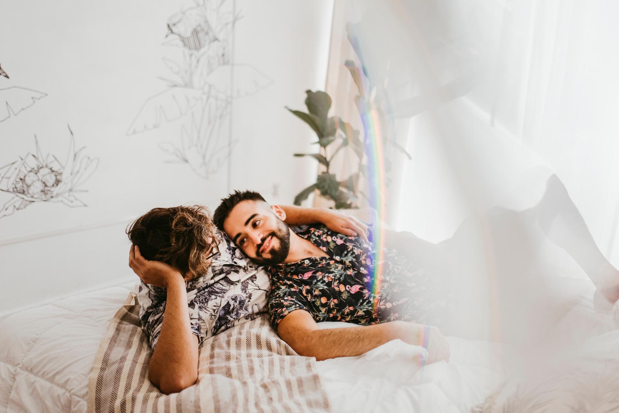 romantic engagement session lgbt