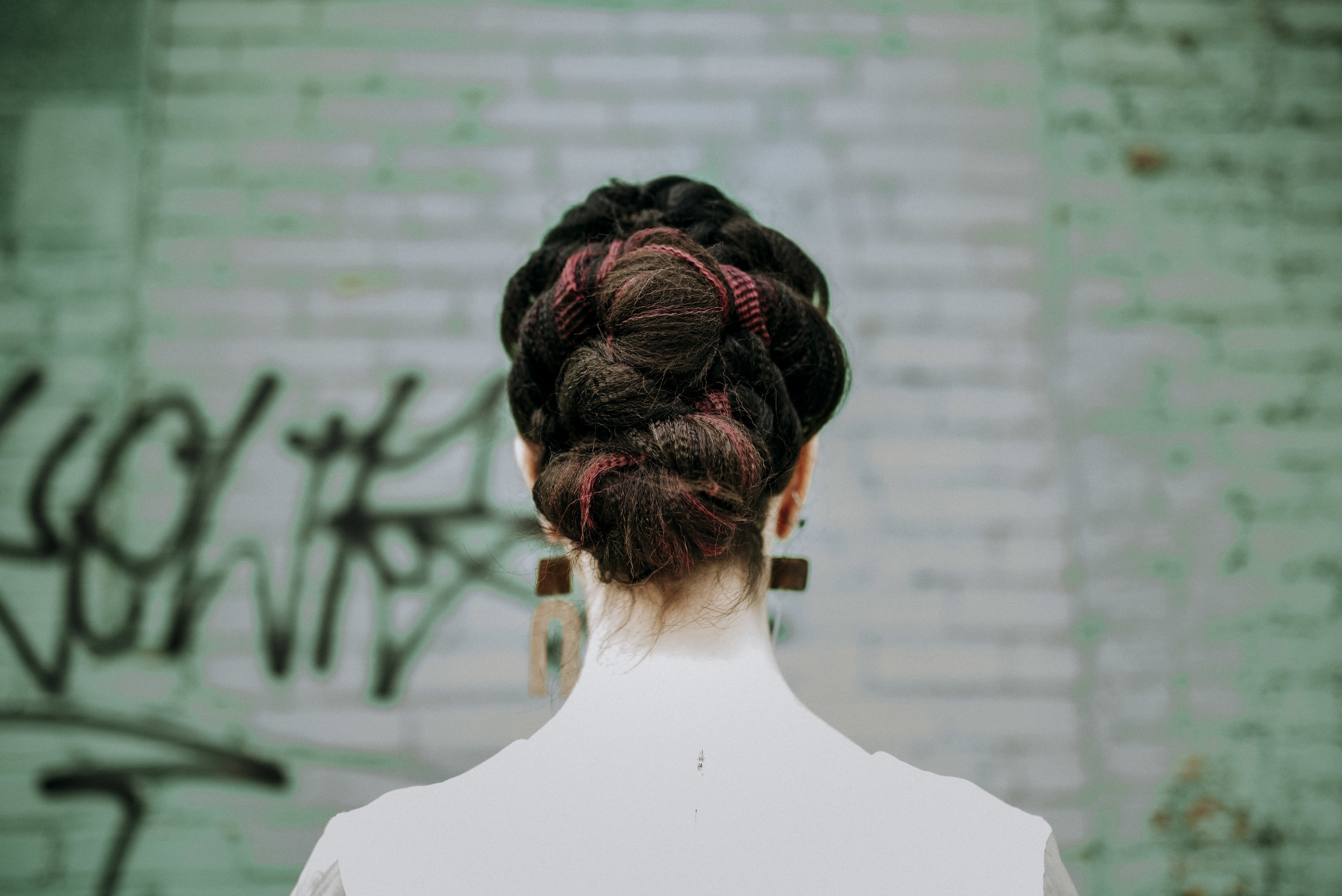 Amazing modern hair by  Tula Organics , who's owner Becky, taught me so much about beauty and waste | Photo by Sandrachile