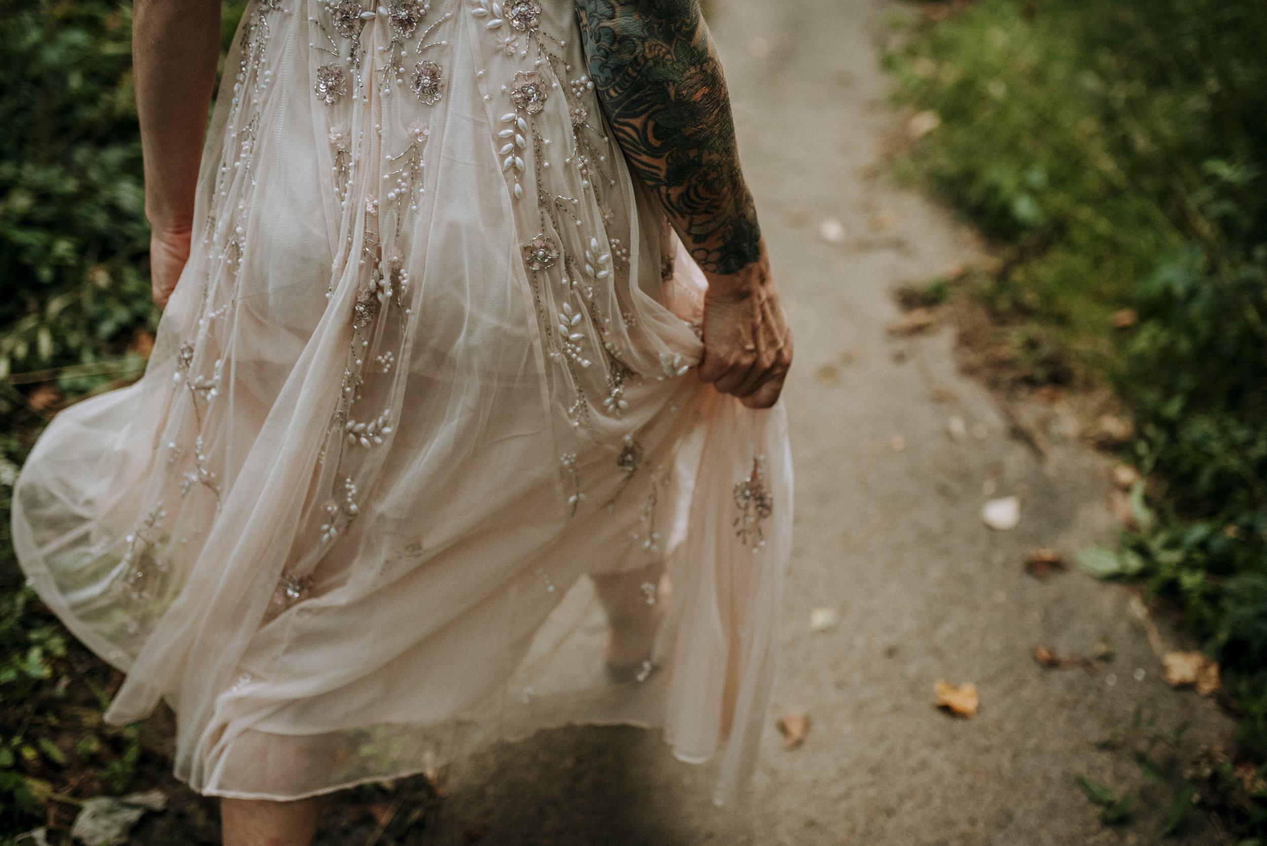 wedding dress blings